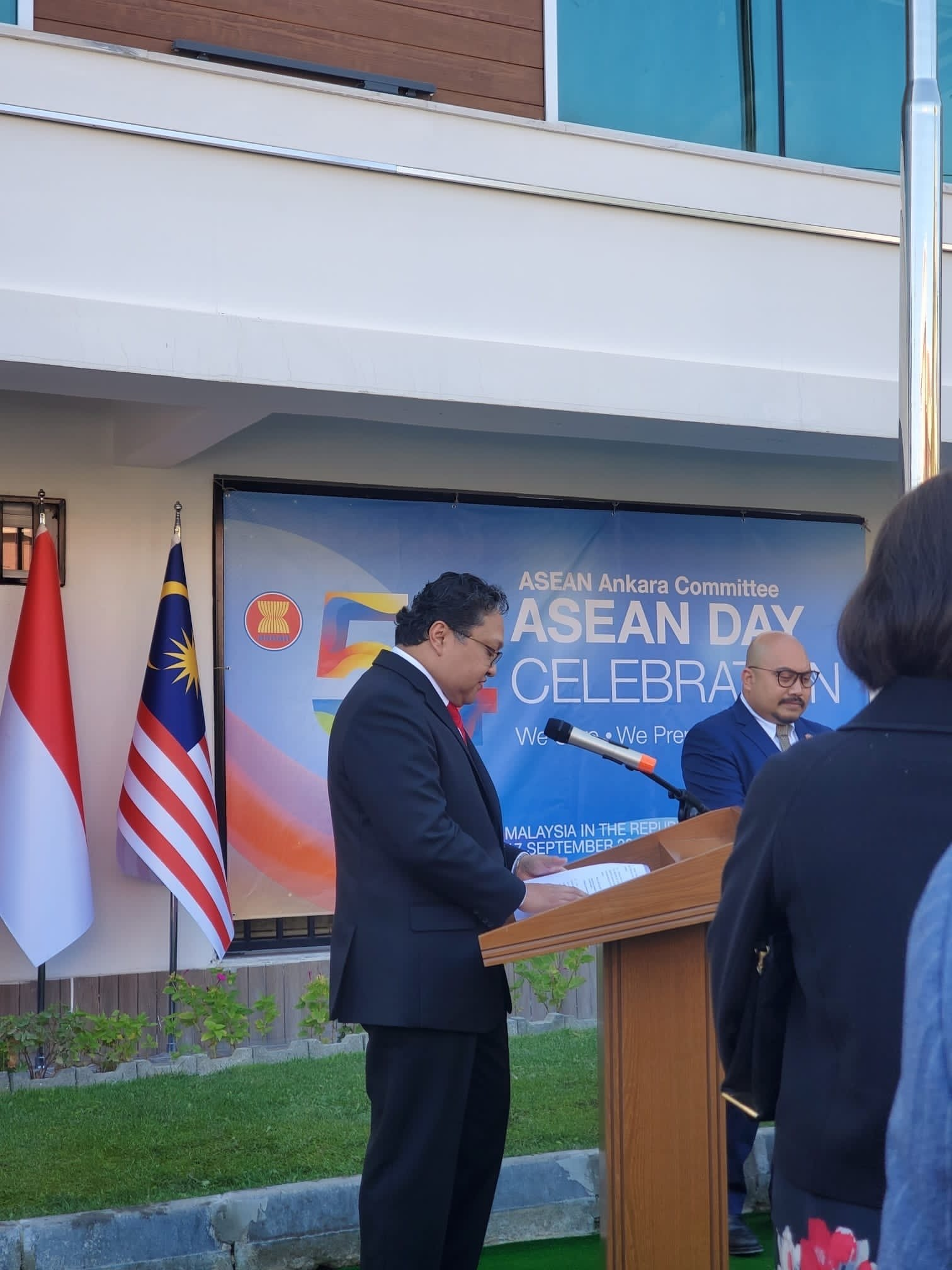 Malaysia's Ambassador to Turkey, Sazali Mustafa Kamal, speaking at an event on the occasion of ASEAN Day, at the Malaysian embassy in Ankara, Turkey, Sept. 17, 2021 (Courtesy of the Malaysian embassy in Turkey)