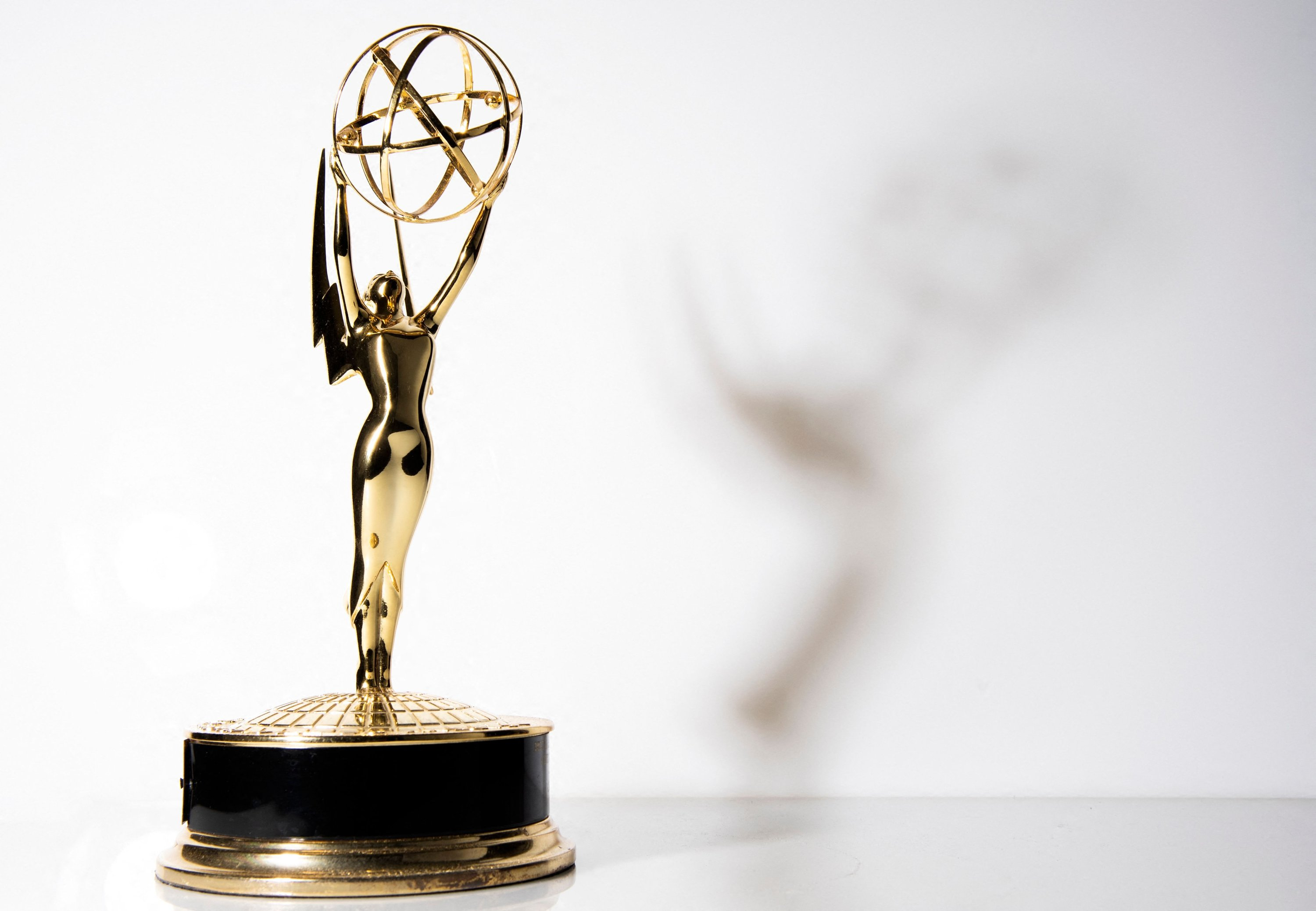 Photo of an Emmy Trophy, in Los Angeles, California, September 16, 2021. (AFP Photo)