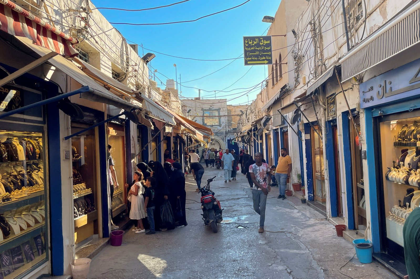 Libyan citizens walk at the gold market in the old city of Tripoli, Libya, Sept. 8, 2021 (Reuters Photo)