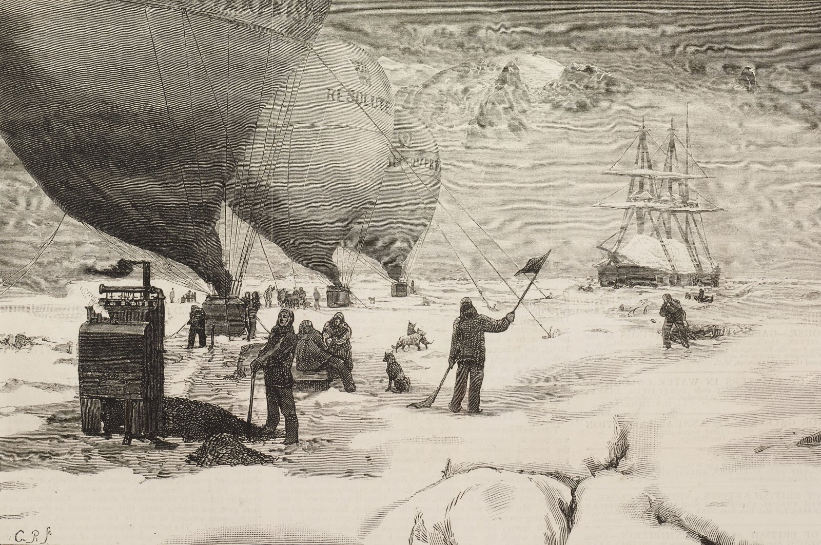 """Climate change and the melting of glaciers has always been a current issue in every field, including adventure novels like Jules Verne's """"The Purchase of the North Pole."""" (Getty Images)"""