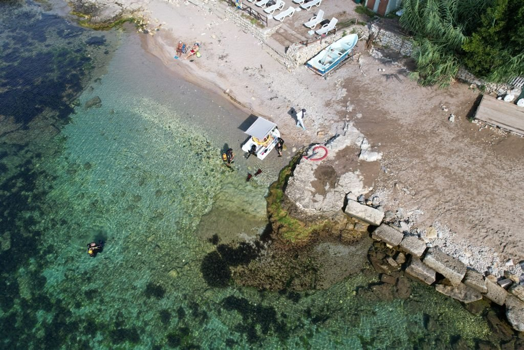 An aerial view Kerpe Harbor on the Black Sea coast in Kocaeli's Kandıra district, Turkey, Sept. 15, 2021. (Provincial Directorate of Culture and Tourism via AA)