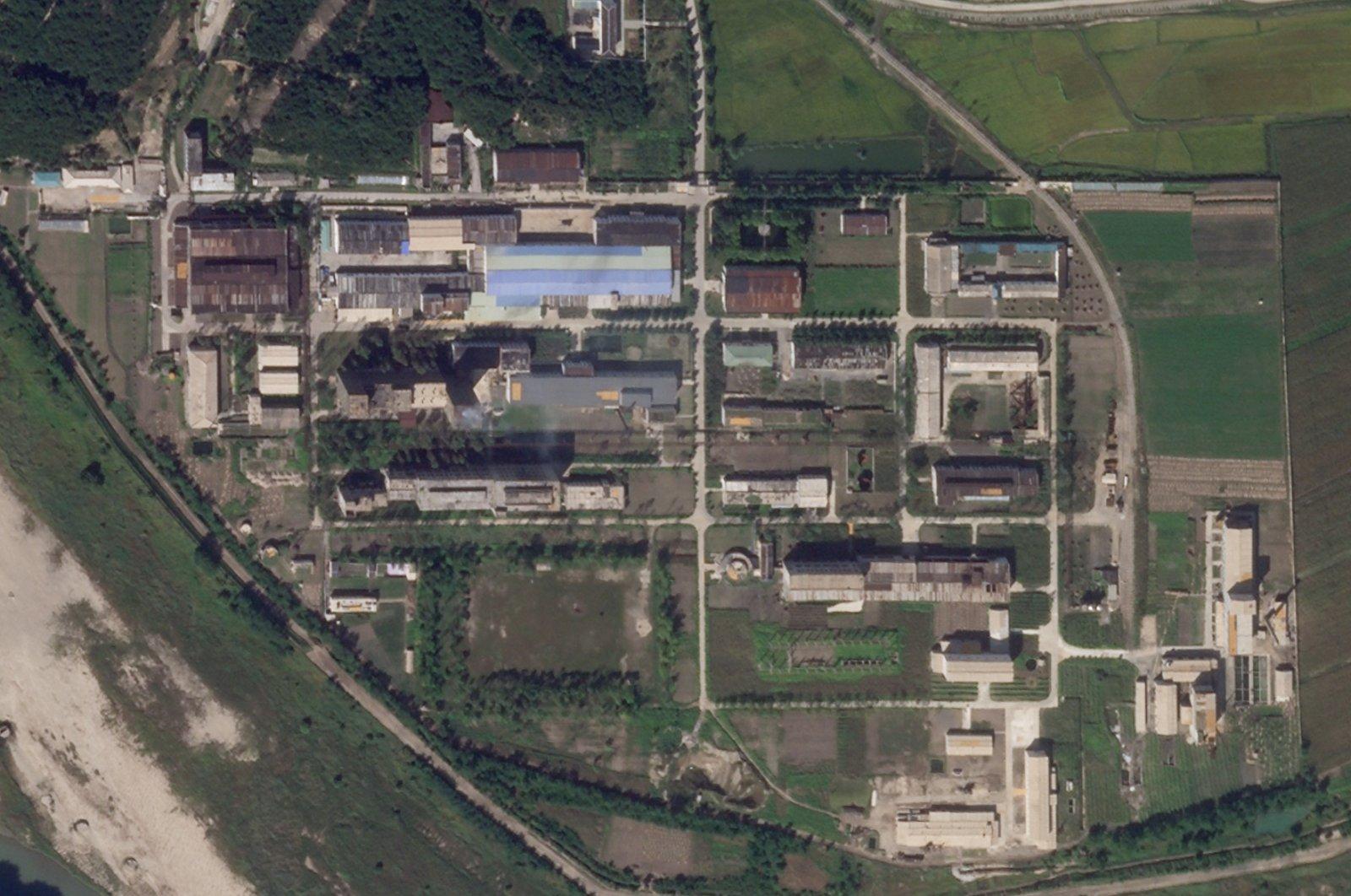 A uranium enrichment plant is seen at North Korea's main Yongbyon nuclear complex, Sept. 18, 2021. (Planet Labs Inc. via AP)