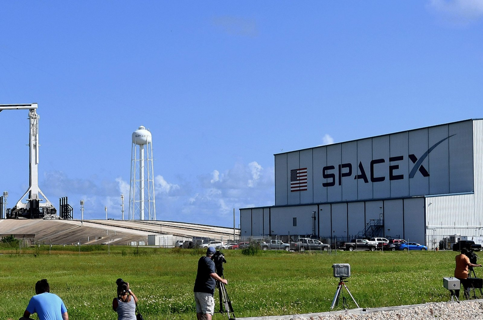 SpaceX prepares to launch the first time three-day trip around the world for four passengers with a non-astronaut rocket, Florida, U.S., Sept. 15, 2021. (Paul Hennessy via Anadolu Agency)