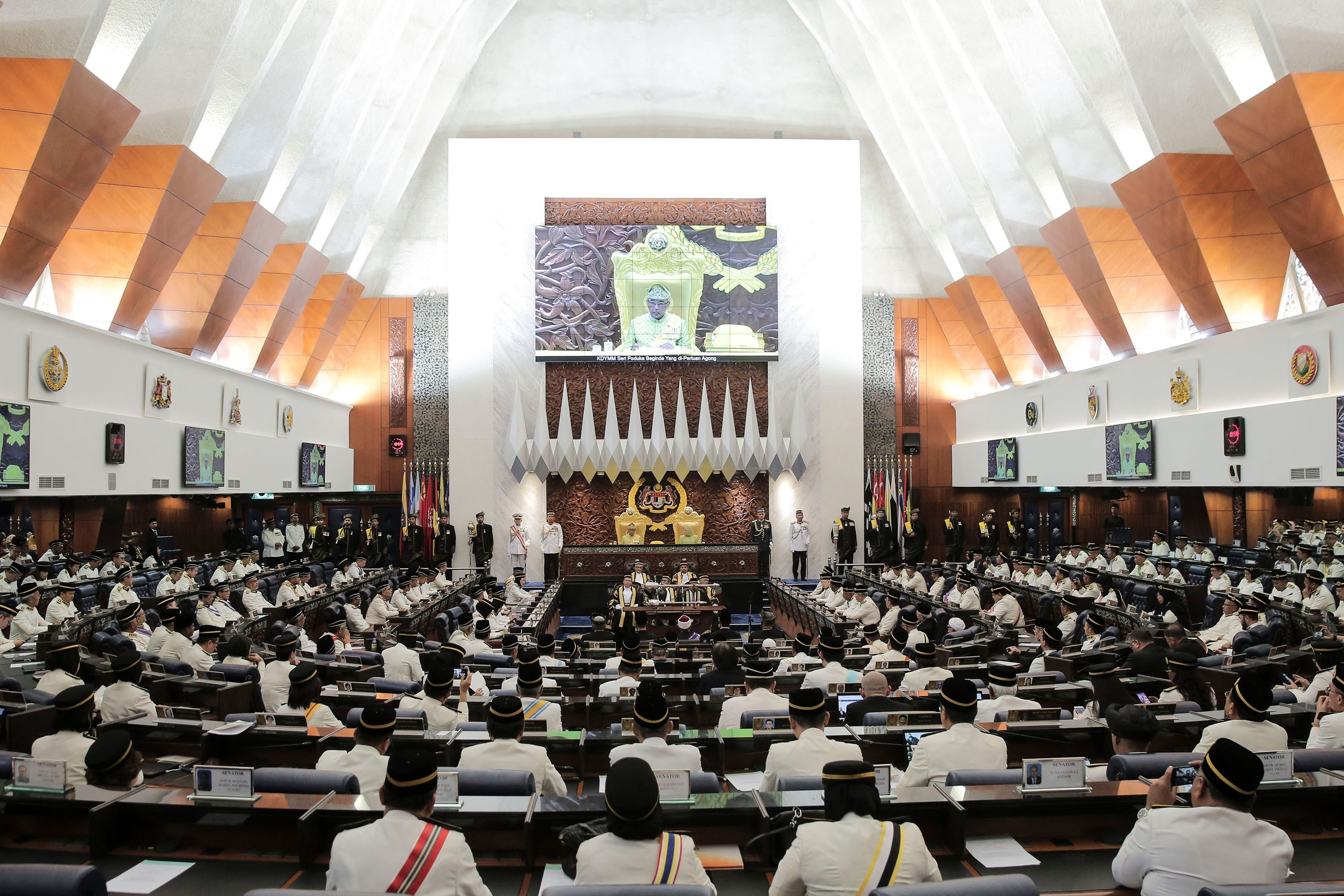 Malaysian members of Parliament take their seats at the parliament house during a session in Kuala Lumpur, Malaysia, March 11, 2019. (Shutterstock Photo)