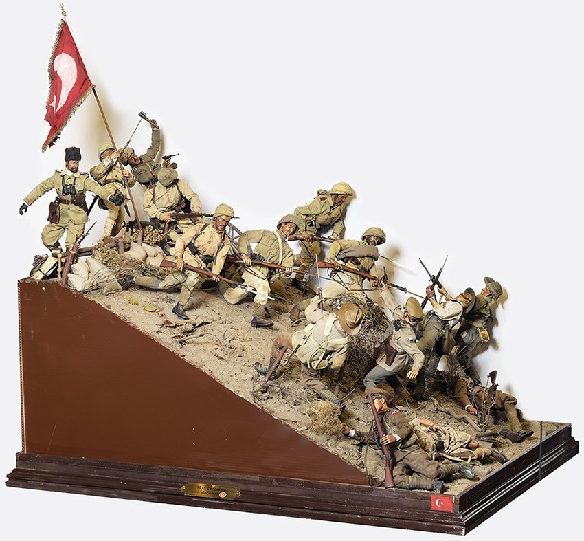 A diorama of the Battle of Lone Pine from Hisart Live History Museum. (Courtesy of Hisart Live History Museum)