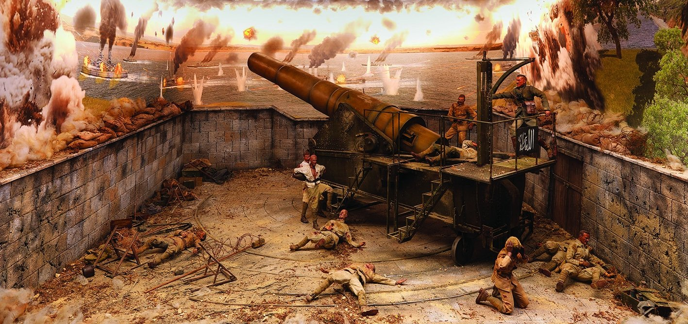A diorama of the Gallipoli Campaign from Hisart Live History Museum. (Courtesy of Hisart Live History Museum)