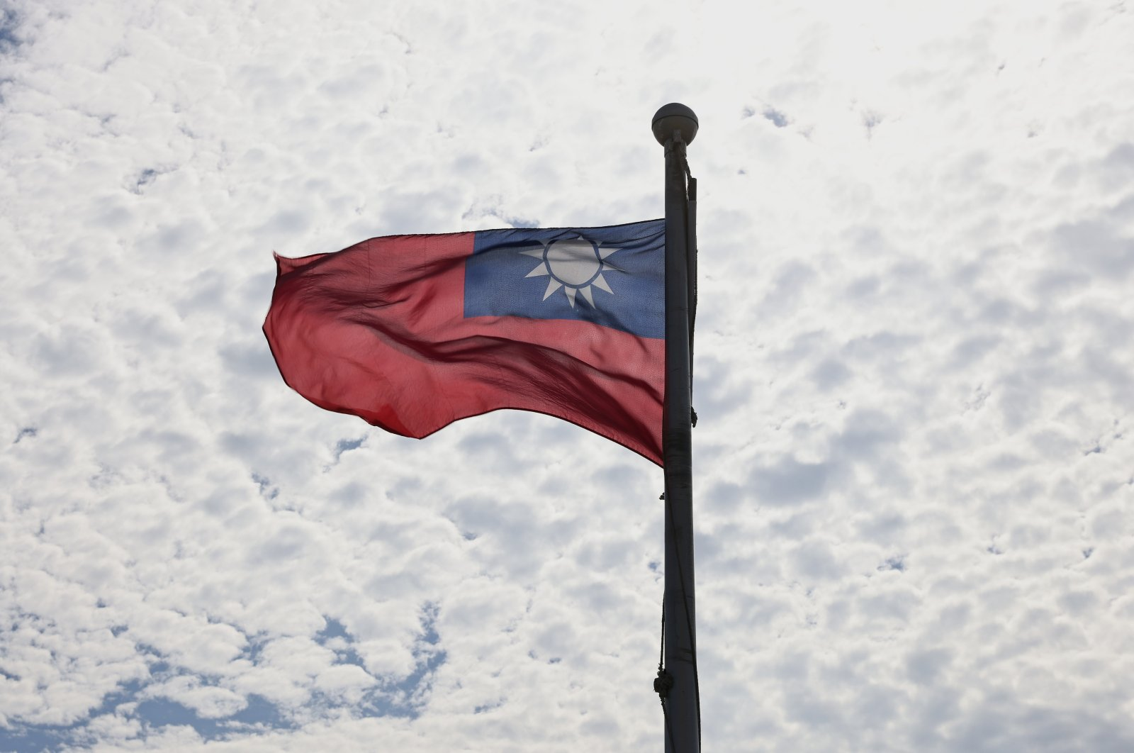 A Taiwanese flag flaps in the wind in Taoyuan, Taiwan, June 30, 2021. (Reuters Photo)