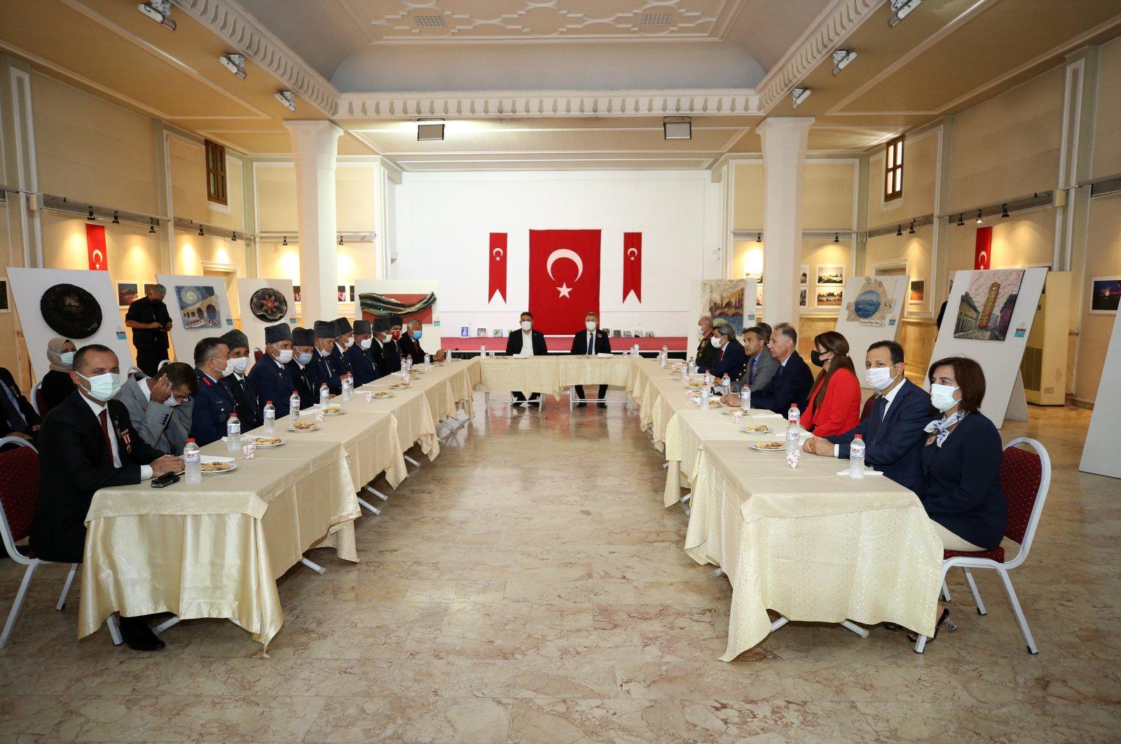 TRNC Prime Minister Ersan Saner addresses veterans in Adana, southern Turkey, Sept. 19, 2021. (AA Photo)