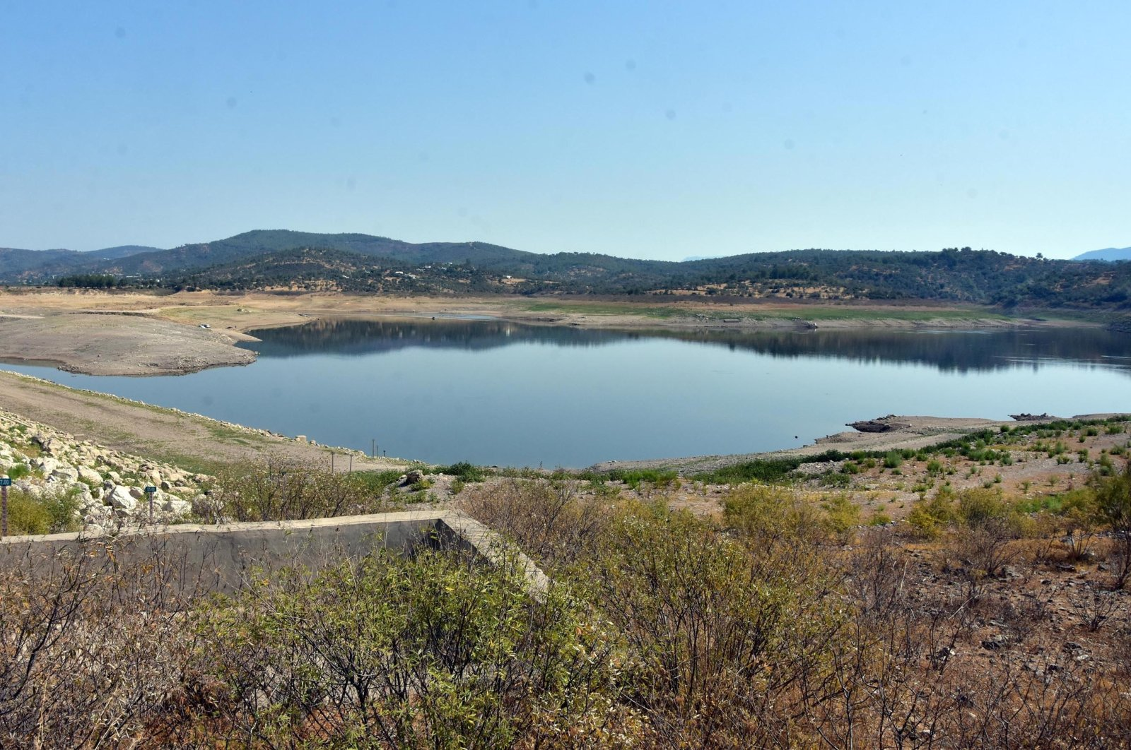 Muğla's Mumcular dam is seen in this photo taken on Sept. 19, 2021 (DHA Photo)