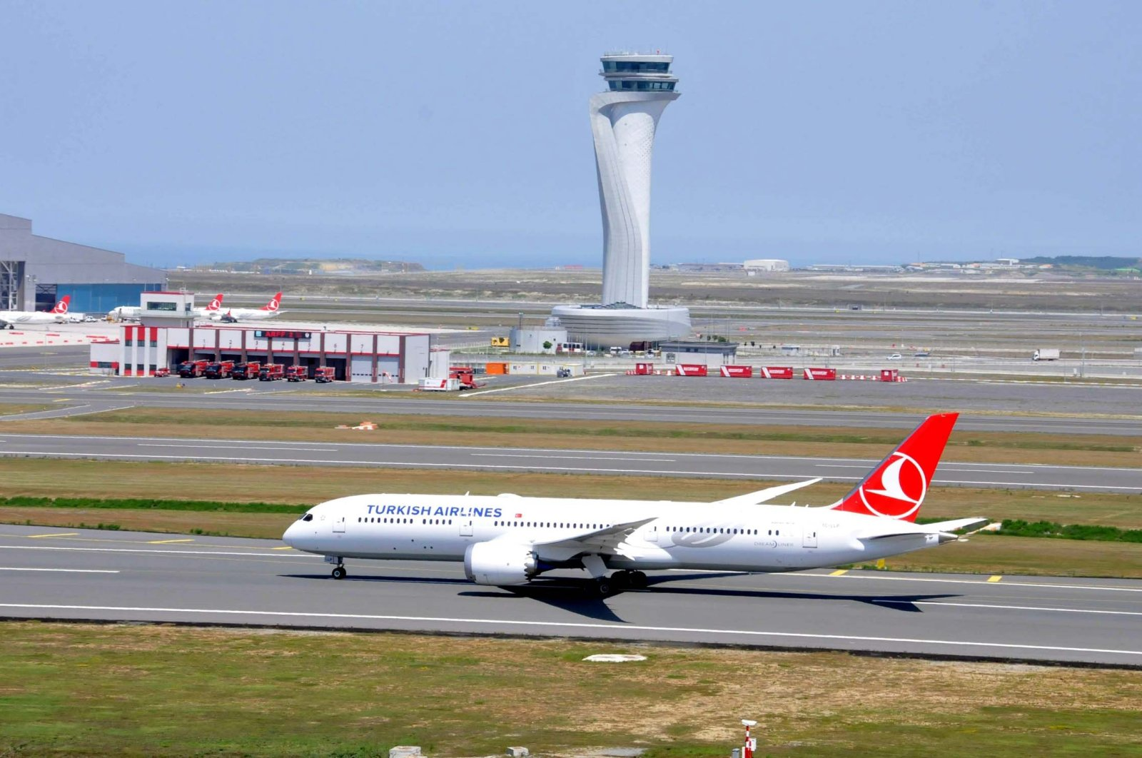 A Turkish Airlines aircraft prepares to take off from Istanbul Airport, Istanbul, Turkey, June 25, 2021. (DHA Photo)
