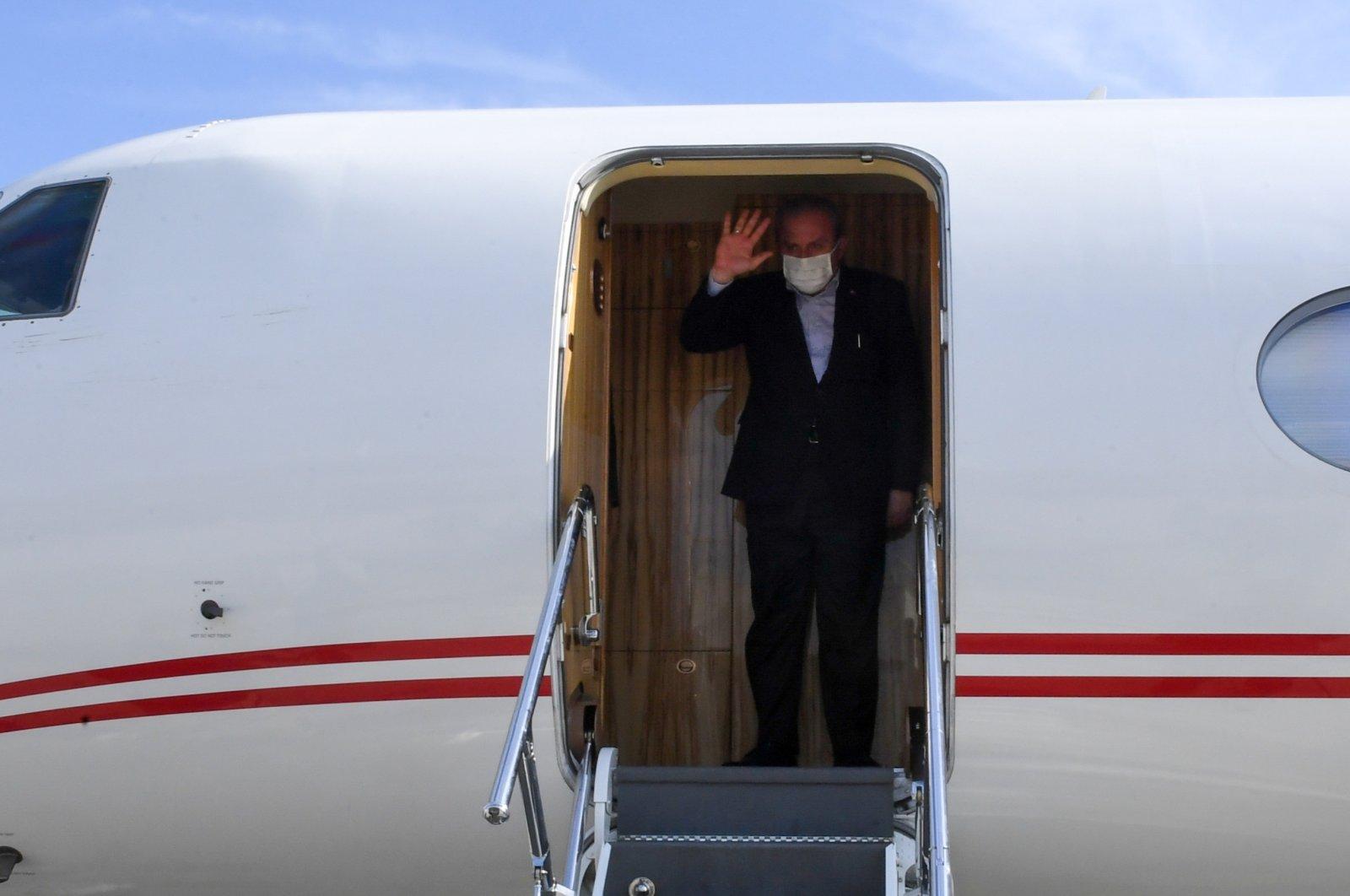 Parliament Speaker Mustafa Şentop travels to Spain, Sunday, Sept. 19, 2021. (AA Photo)