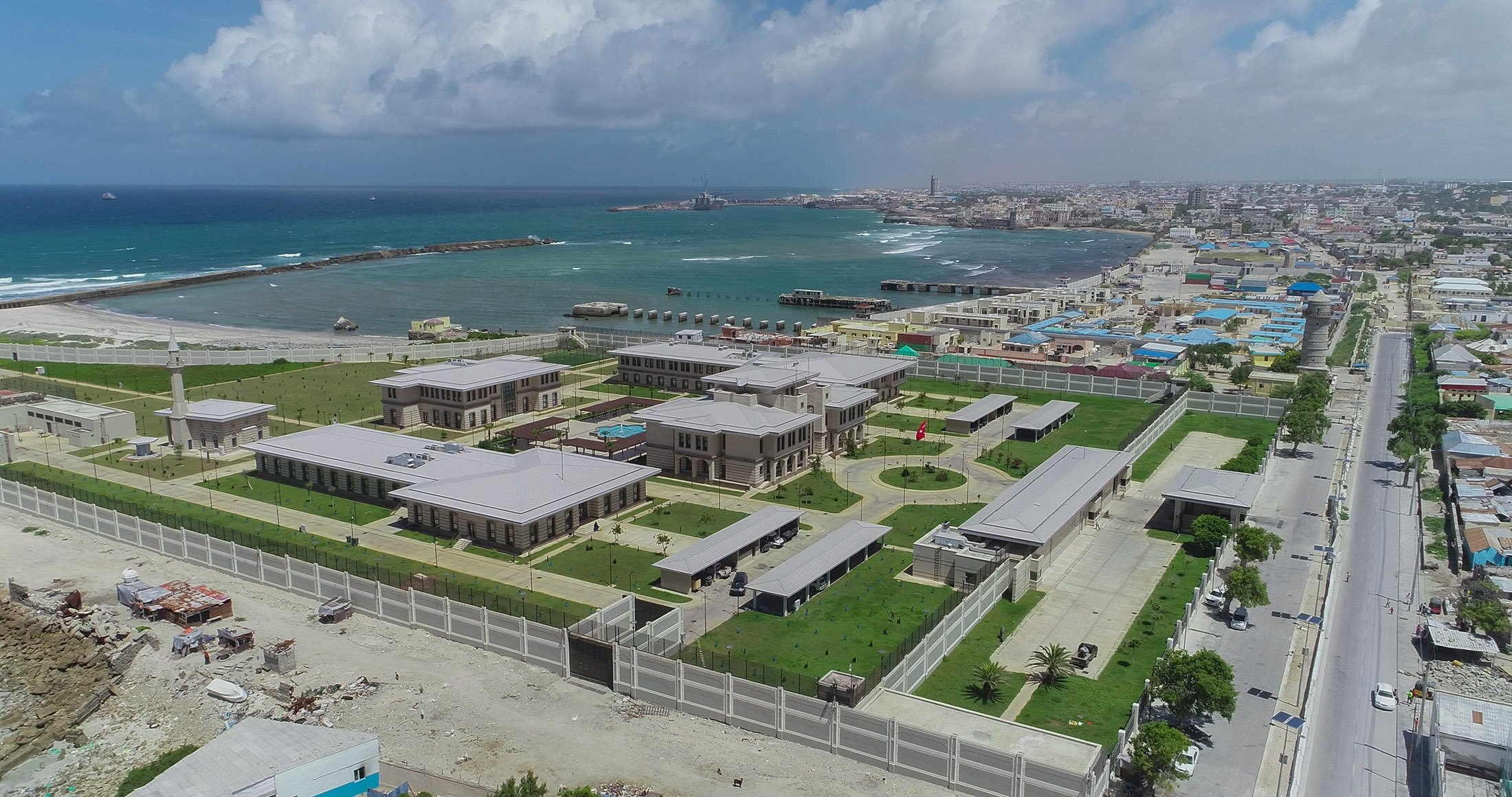 The Turkish Embassy Compound in Mogadishu, built on an 80-decare plot of land, is the largest Turkish Embassy in the world, in Mogadishu, Somalia, June 30, 2018. (Shuttterstock Photo)