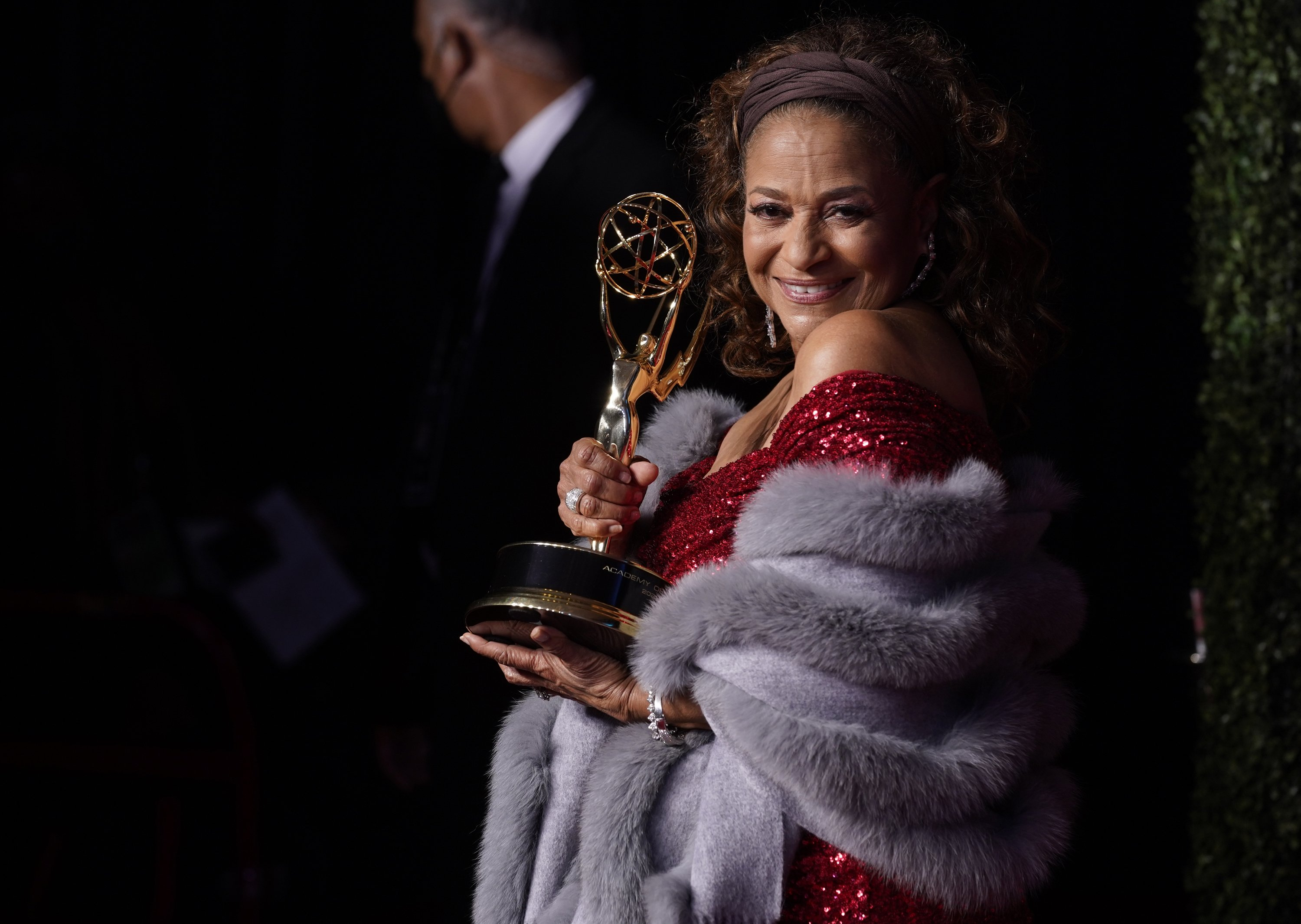 Debbie Allen, winner of the Governors Award, poses at the 73rd Primetime Emmy Awards at L.A. Live in Los Angeles, California, U.S., Sept. 19, 2021. (AP Photo)