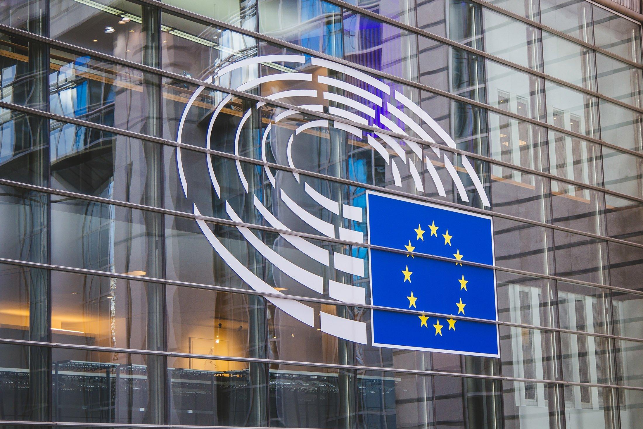 The European Parliament building in Brussels, Belgium. (Shutterstock Photo)