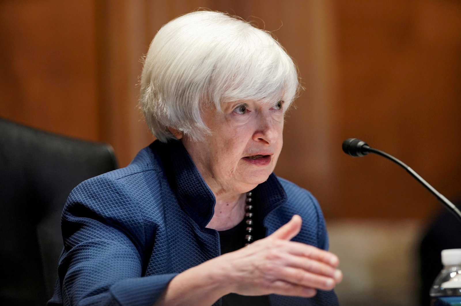 U.S. Treasury Secretary Janet Yellen answers questions during the Senate Appropriations Subcommittee hearing to examine the FY22 budget request for the Treasury Department on Capitol Hill in Washington, D.C., U.S., June 23, 2021. (Reuters Photo)