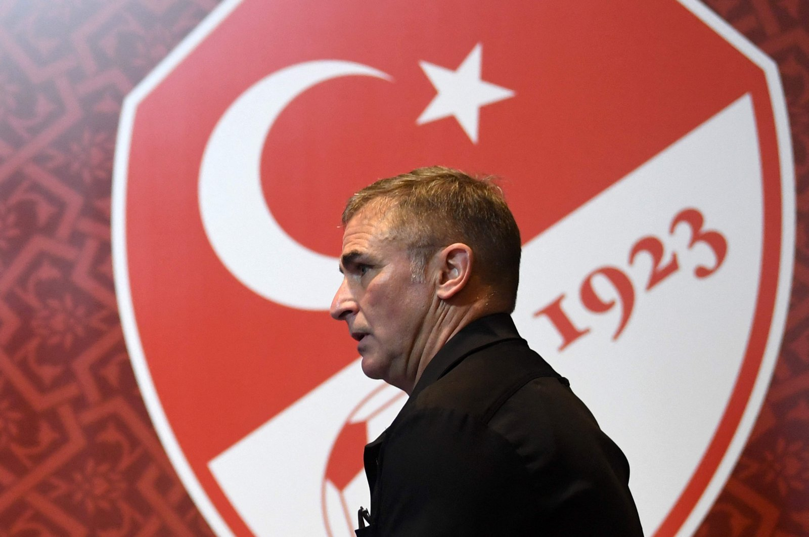 Turkey national football team's newly appointed German head coach Stefan Kuntz attends a signing ceremony at Turkish Football Federation Riva Facilities in Istanbul, Turkey, Sept. 20, 2021. (AFP Photo)