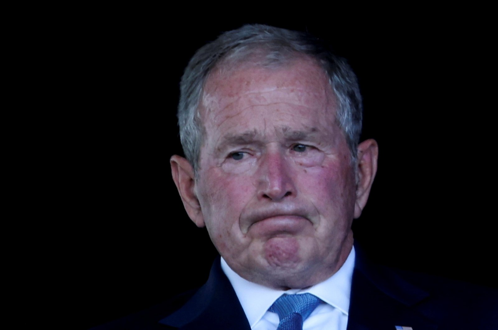 Former U.S. President George W. Bush attends an event commemorating the 20th anniversary of the Sept. 11, 2001 attacks at the Flight 93 National Memorial in Stoystown, Pennsylvania, U.S., Sept. 11, 2021. (Reuters Photo)