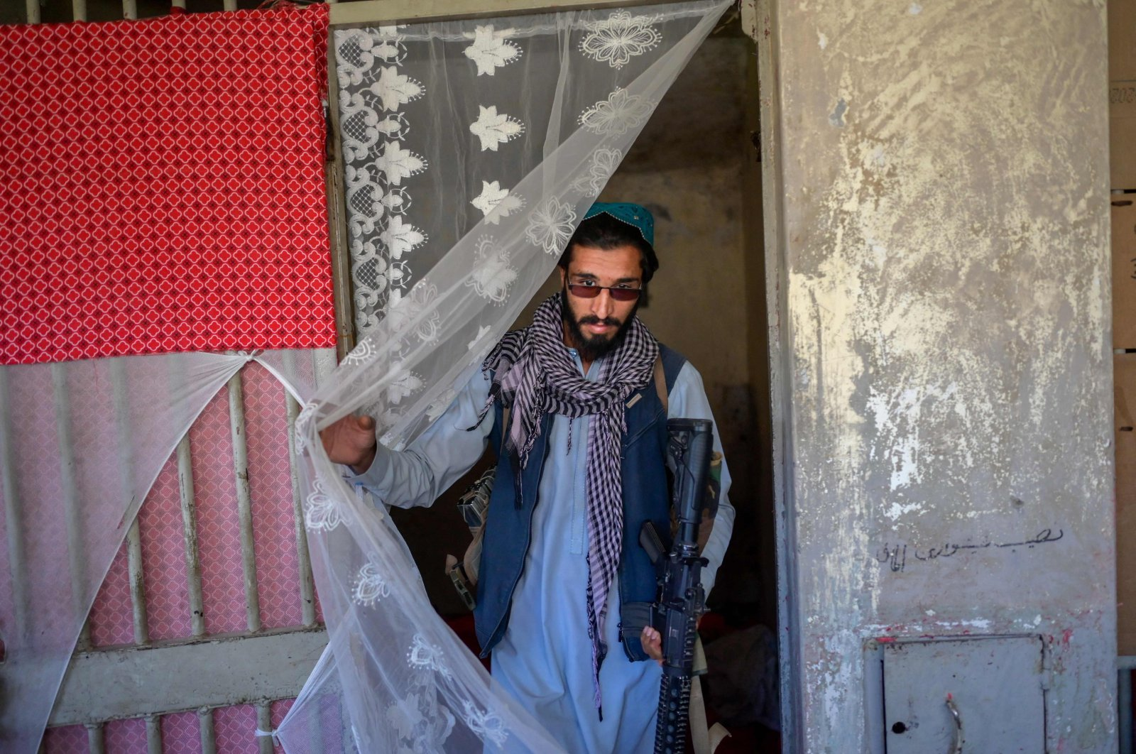 A member of the Taliban walks inside the Pul-e-Charkhi prison in Kabul, Afghanistan, Sept. 16, 2021. (AFP Photo)