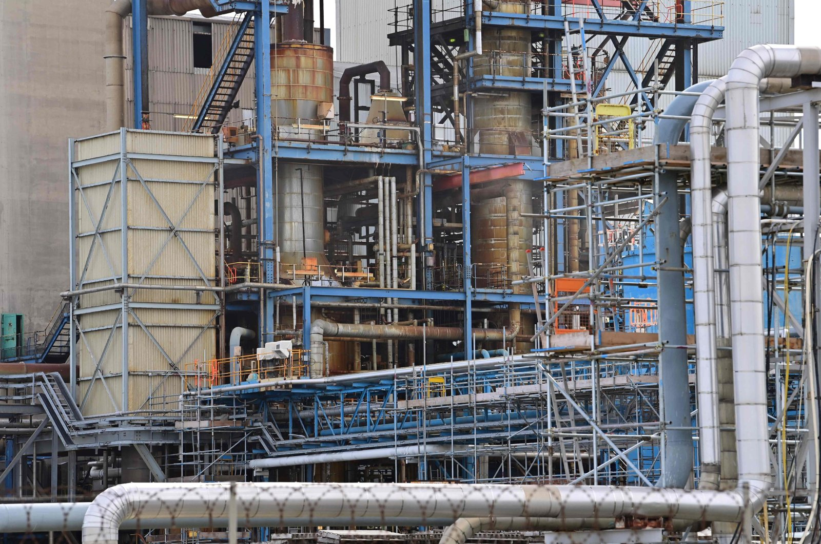 A view of CF Industries fertilizer plant in Stockton-on-Tees, northeast England, Sept. 21, 2021. (AFP Photo)