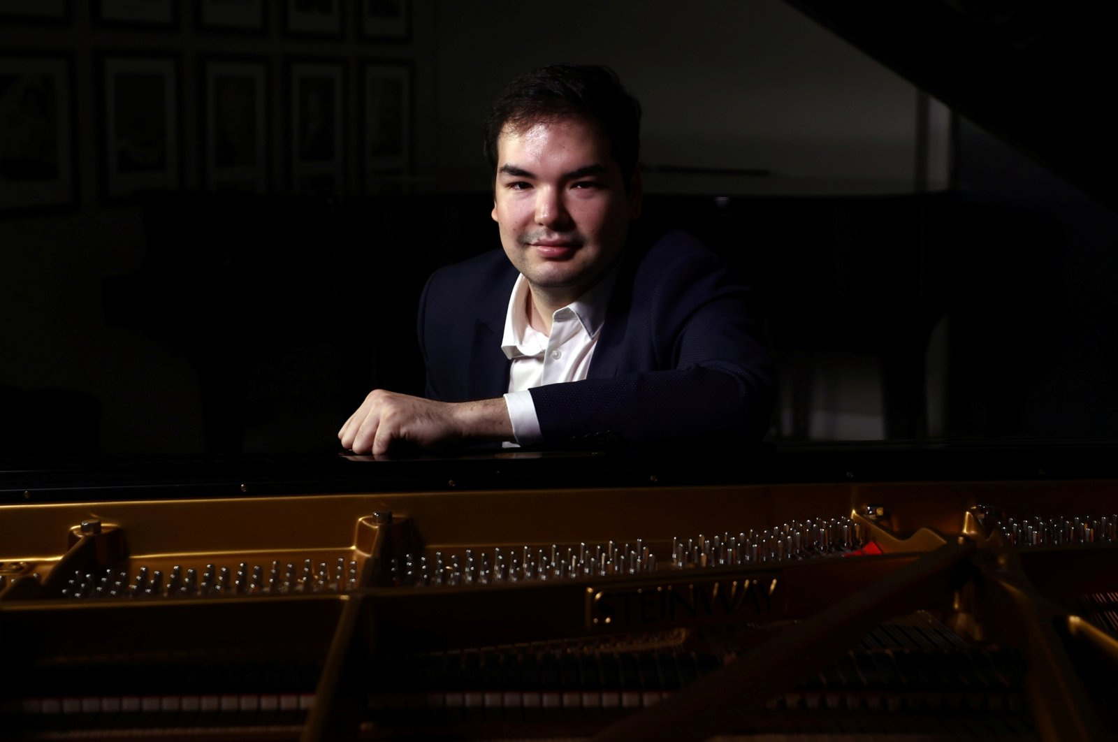 Kazakh pianist Alim Beysembayev poses for a portrait at Steinway Hall in London, the U.K., Sept. 20, 2021. (Reuters Photo)
