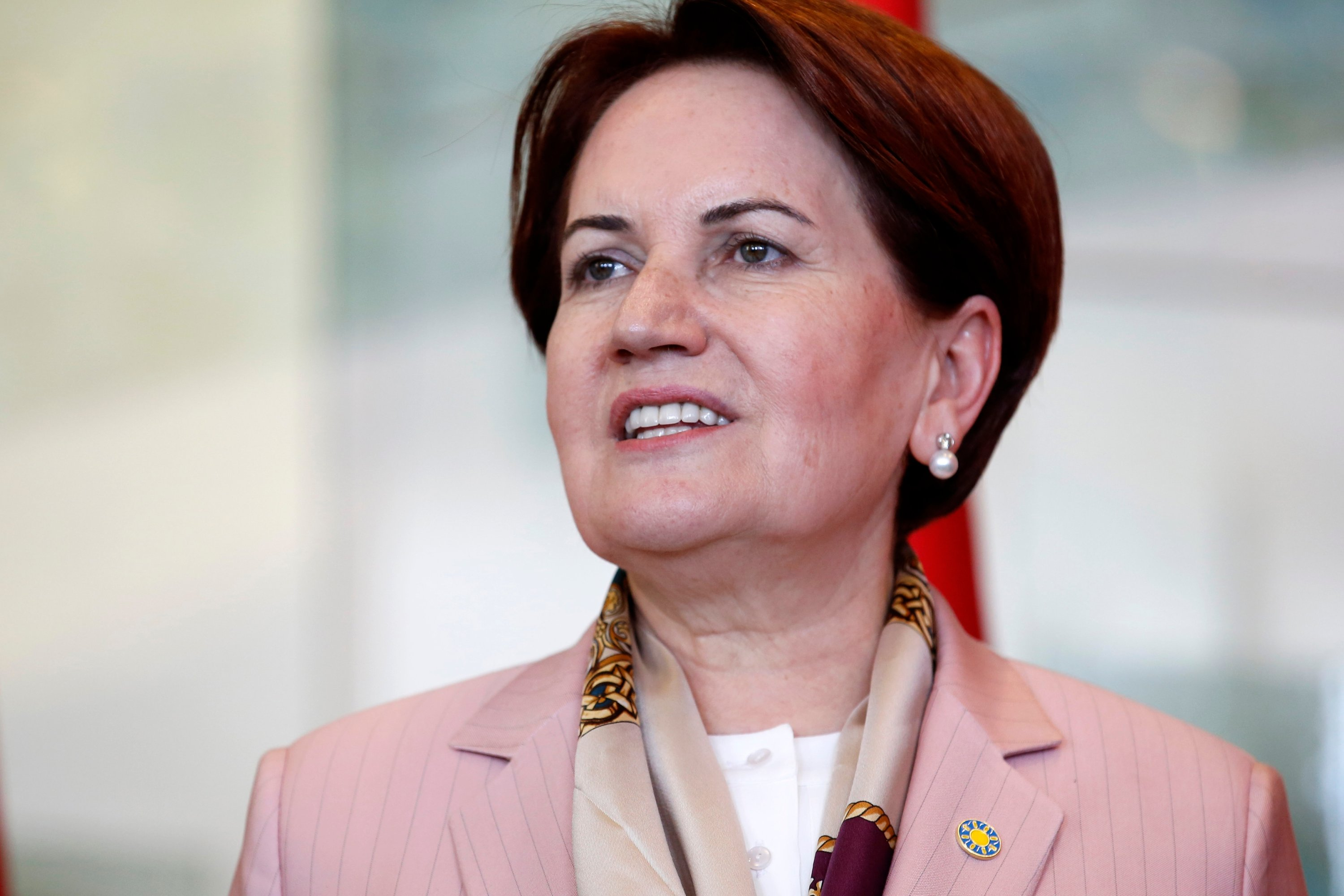 Republican People's Party (CHP) Chair Kemal Kılıçdaroğlu and Good Party (IP) Chair Meral Akşener (pictured) discussed possible alliance formulas before the presidential election in Ankara, Turkey, April 25, 2018. (Shutterstock Photo)