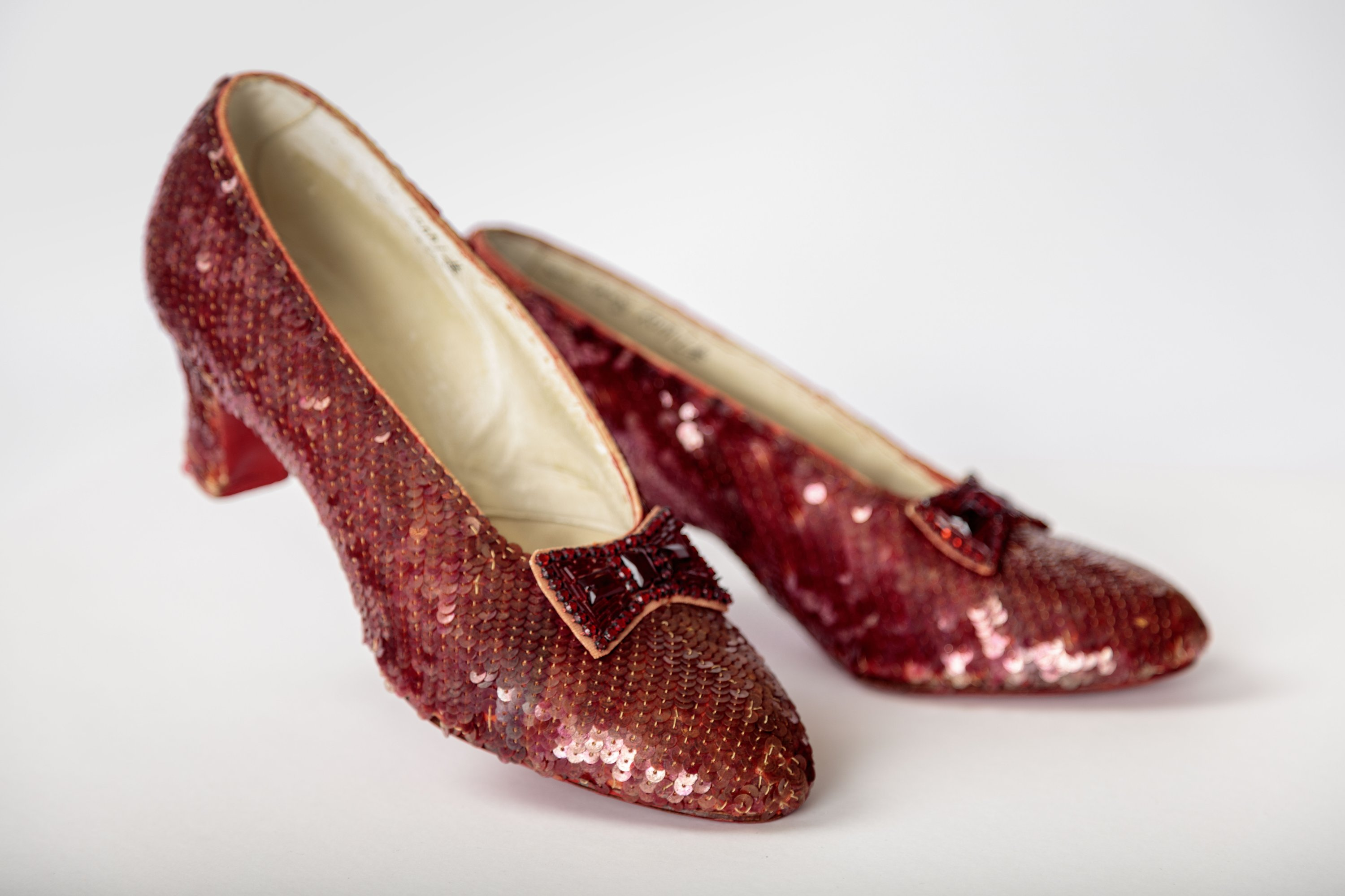 Dorothy's red shoes from the 1939 classic 'Wizard of Oz' are part of the exhibits in the new Academy Museum of Motion Pictures. (DPA Photo)