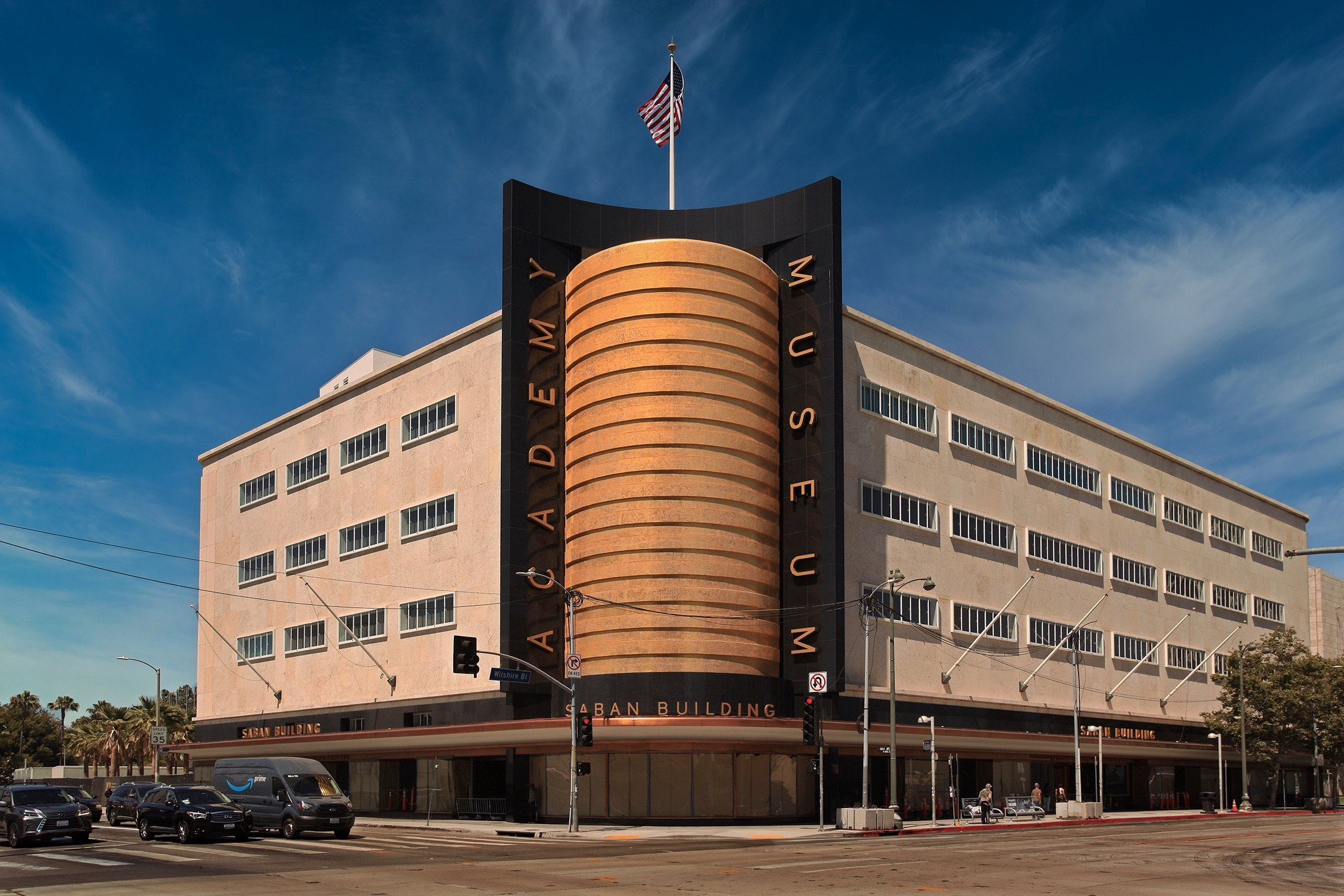 An exterior view from the Saban Building of the Academy Museum of Motion Pictures, Los Angeles, California, July 3, 2021. (Shutterstock Photo)