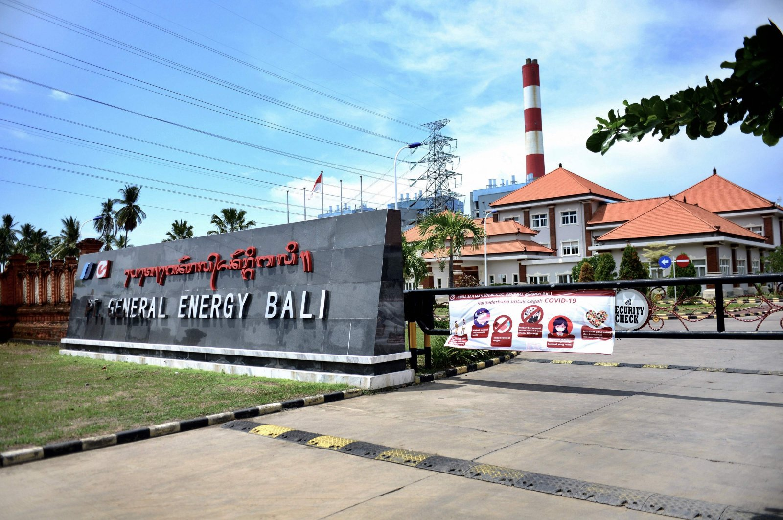 The Celukan Bawang 2 power plant, funded by China, in Singaraja on Indonesia's resort island of Bali, Oct. 29, 2020. (AFP Photo)