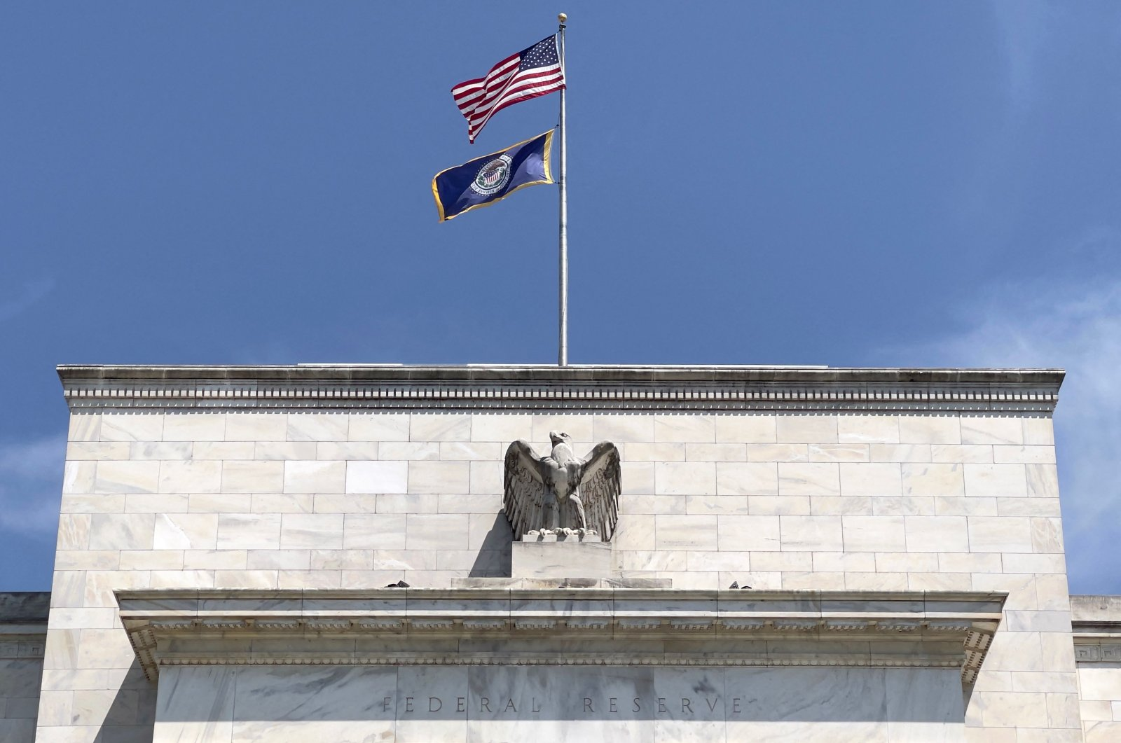 This file photo shows the Federal Reserve building in Washington, D.C., U.S., Aug. 6, 2021. (AFP Photo)