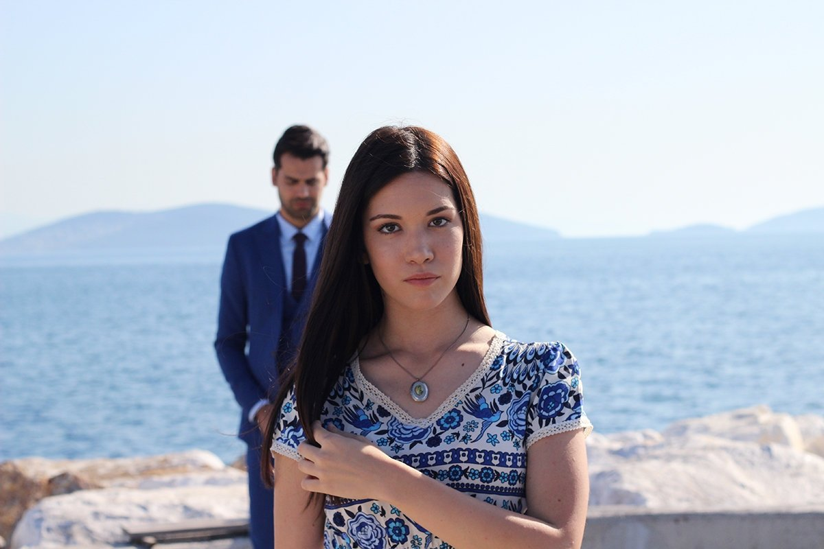 This still shot shows Deniz Durmaz (front) and Cenk Torun in 'You Name Me' originally aired by Turkish broadcaster TRT 1.