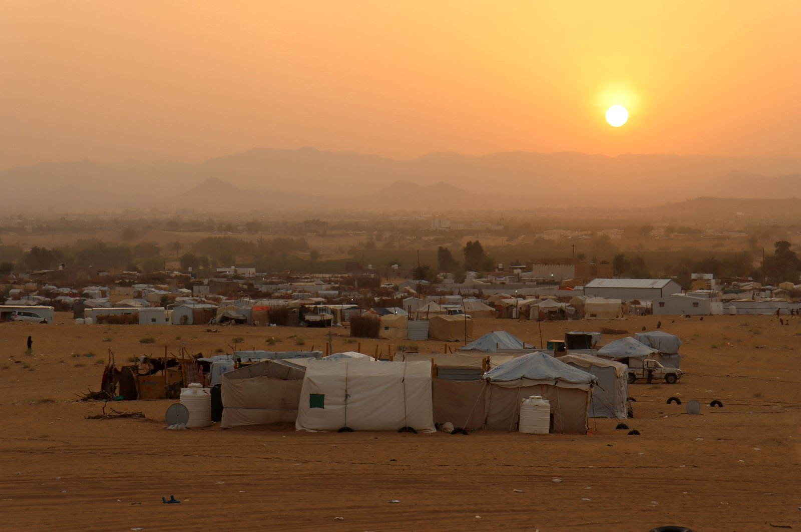 A general view of a camp for internally displaced people in Marib, Yemen, Sept. 9, 2021. (Reuters Photo)