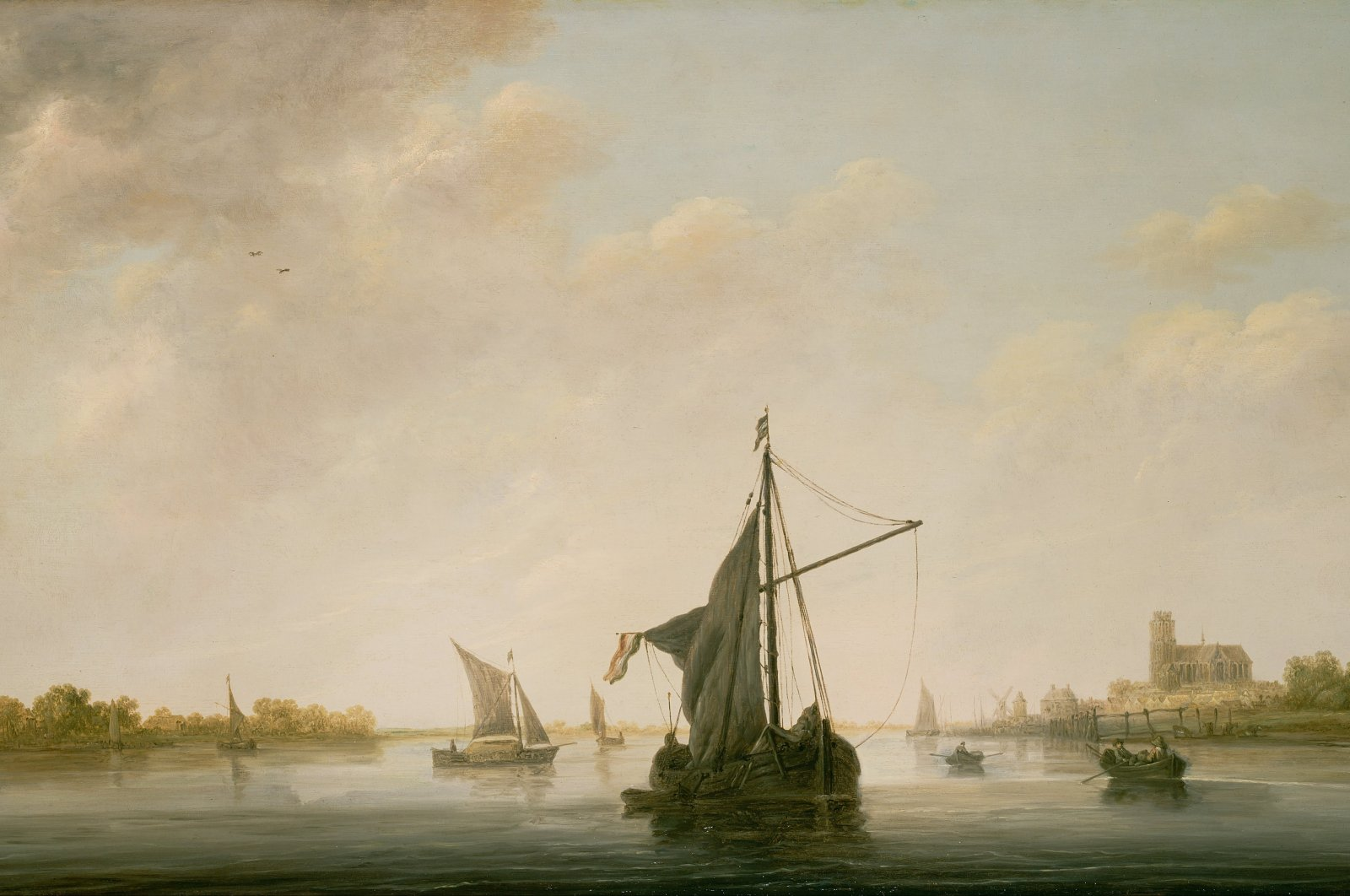 A View of the Maas at Dordrecht by Aelbert Cuyp (1646). (Wikimedia)