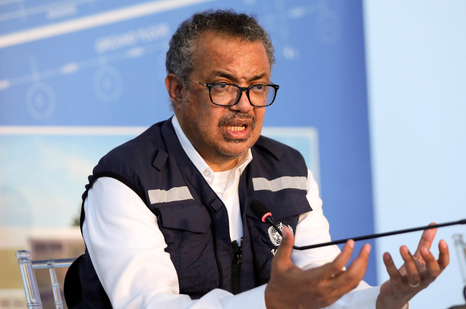 World Health Organization (WHO) Director-General Tedros Adhanom Ghebreyesus, gestures during a news conference in Beirut, Lebanon, Sept. 17, 2021. (Reuters Photo)