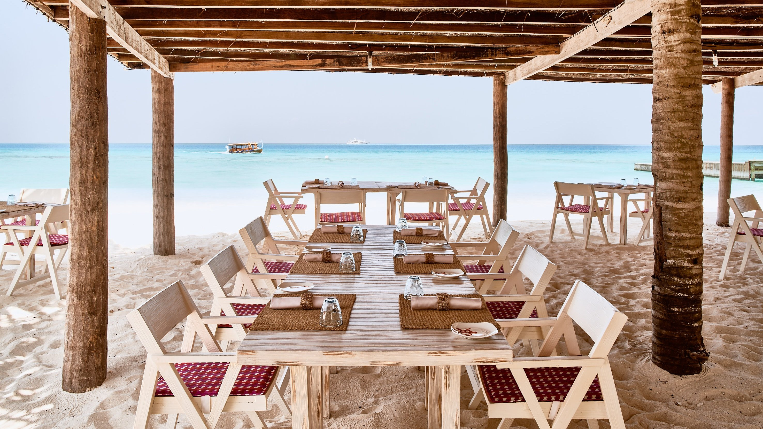 Don't be fooled by the rustic charm of Finolhu's Crab Shack, as by nightfall the restaurant will be the host of wild parties. (Photo courtesy of Finolhu Maldives)