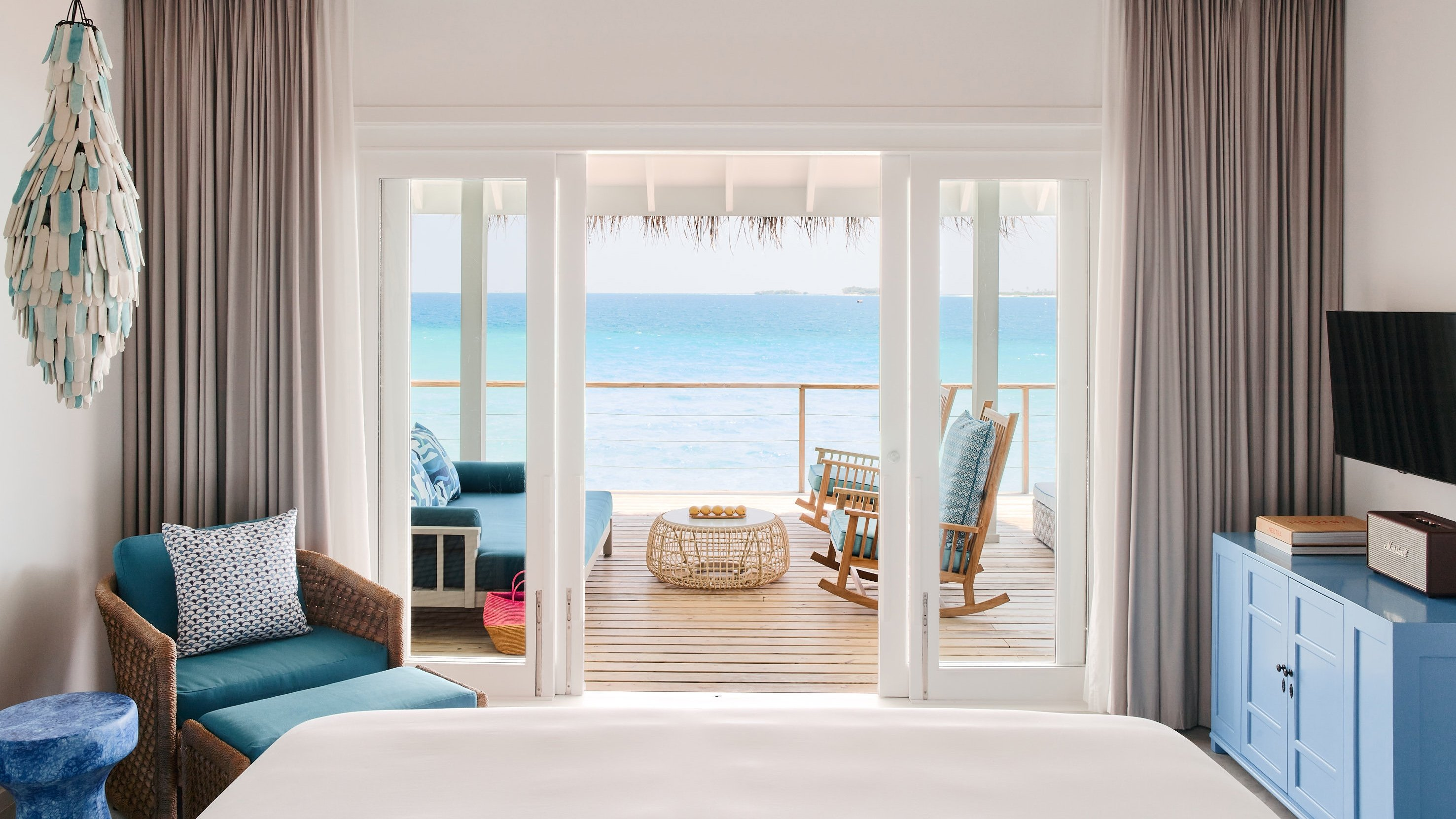 Water villas not only allow immediate access to the sea but also makes sure you start your every day with such views. (Photo courtesy of Finohlu Maldives)