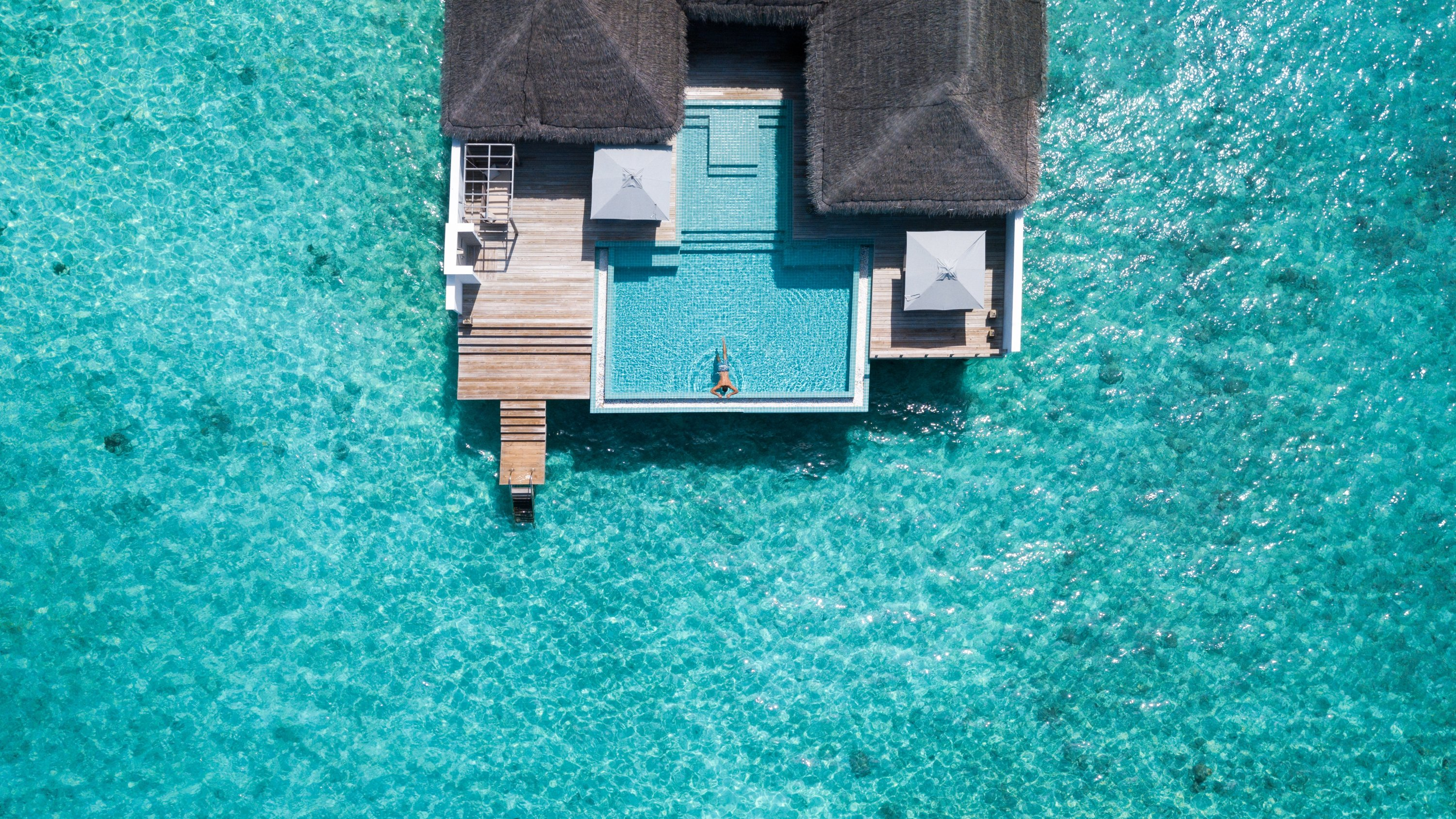 Finolhu's 'Rockstar' suite boasts an impressive 460 square meters of living space as well as an 8-meter infinity pool. (Photo courtesy of Finolhu Maldives)