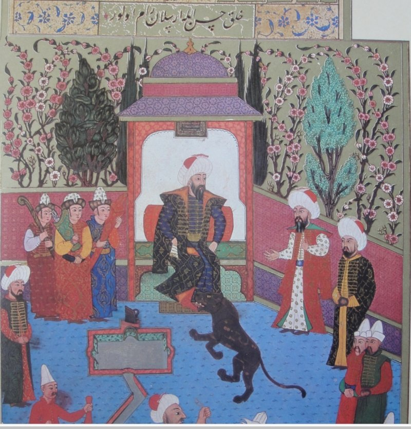This miniature painting shows Osman Ghazi as the head of the Kayı tribe. (Wikimedia)