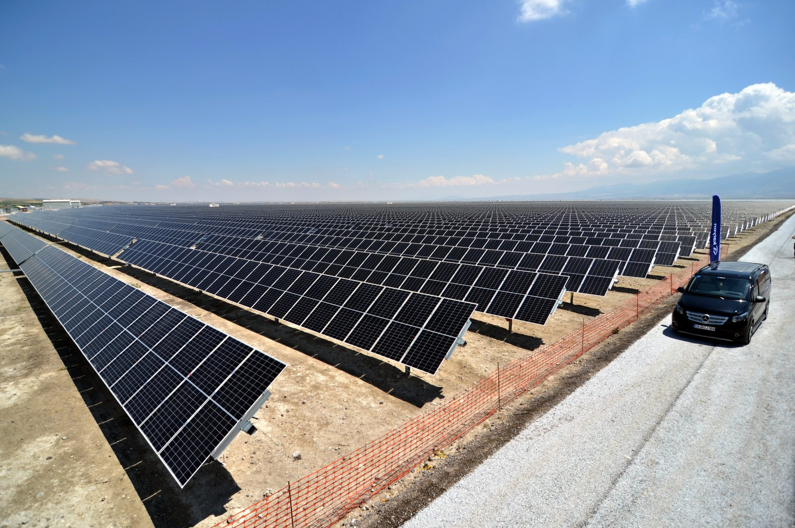 A solar power plant operated by Kalyon Holding in Karapınar, in Konya, central Turkey, Sept. 24, 2021. (AA Photo)