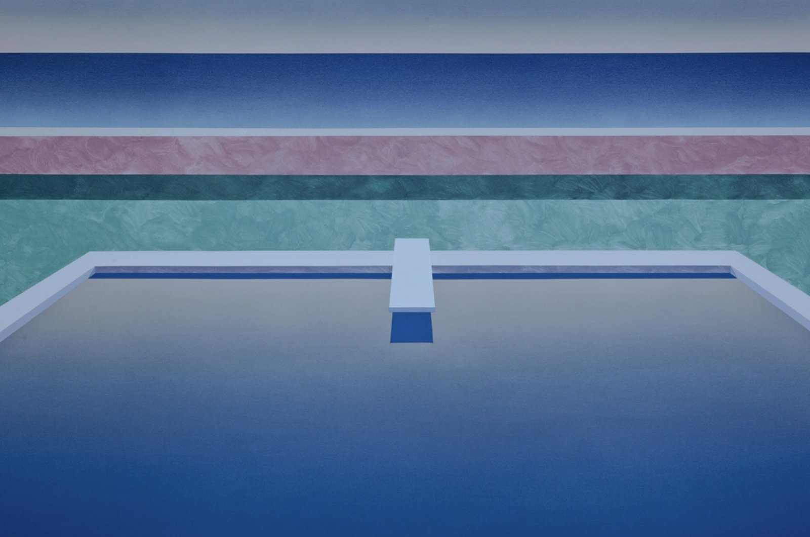 "Ufuk Yılmaz,""Anlık 4,"" 2020,acyrlic on canvas, 100 by 165 centimeters. (Courtesy of Vision Art Platform)"