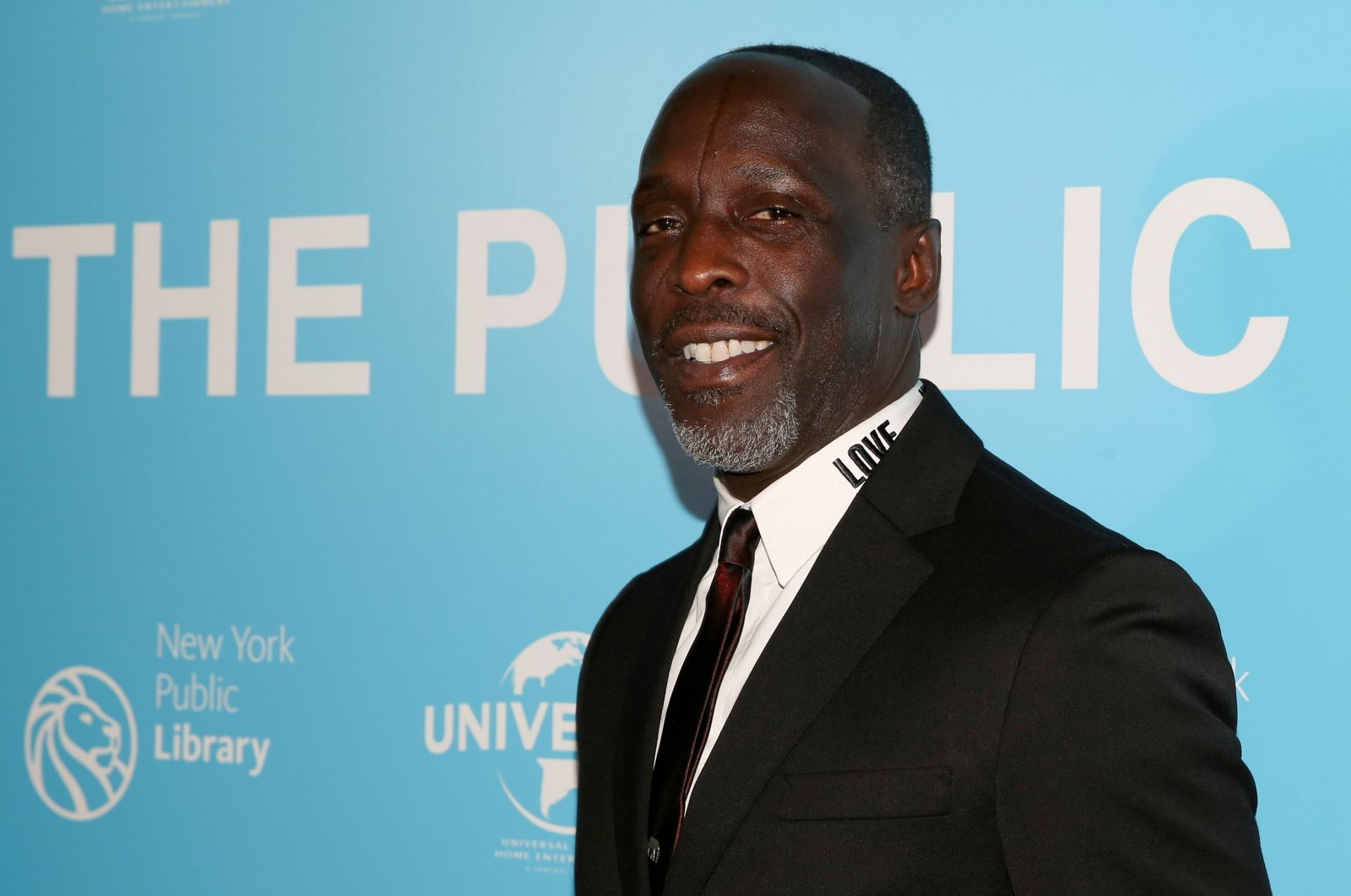 """Actor Michael K. Williams arrives for the premiere of """"The Public"""" at the New York Public Library in New York, U.S., April 1, 2019. (Reuters Photo)"""