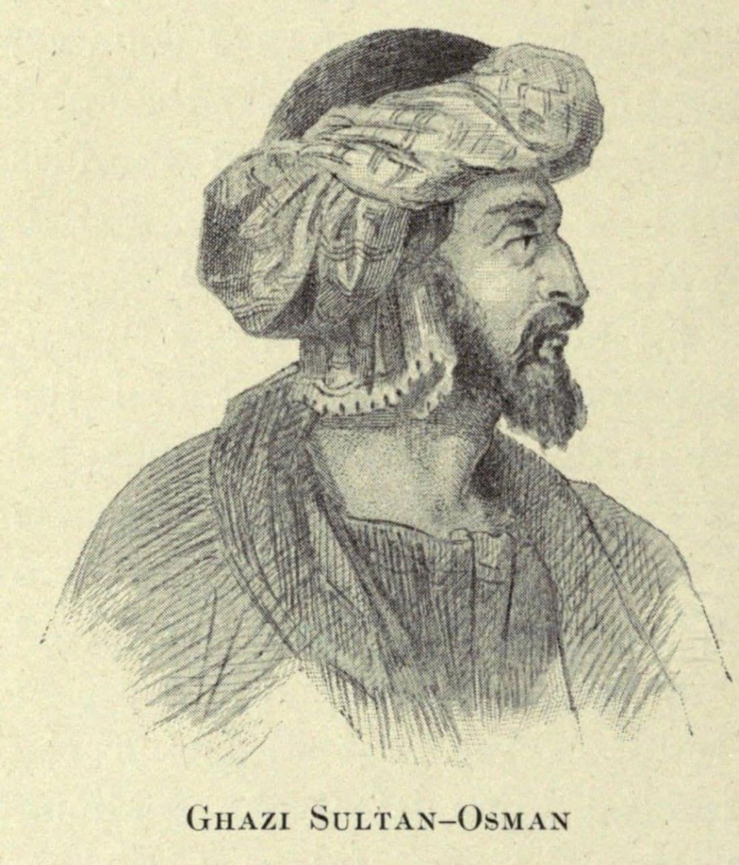 This undated engraving shows Osman Ghazi.