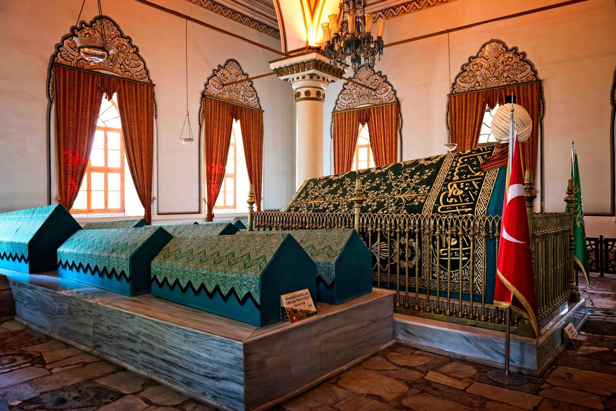 View of the tomb of Osman Gazi, in Bursa, northwestern Turkey. (Getty Images)