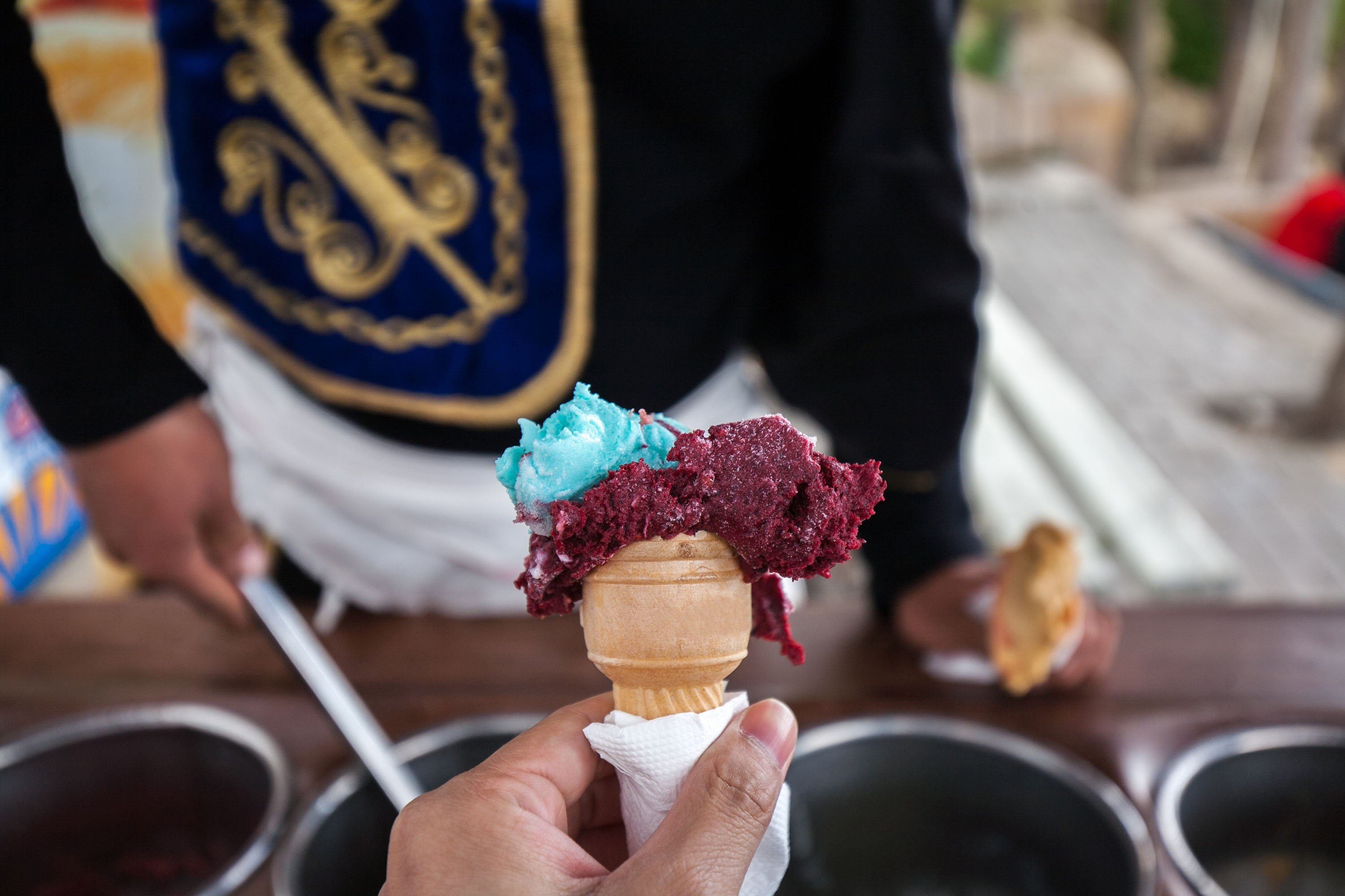 The famous traditional Turkish ice cream,