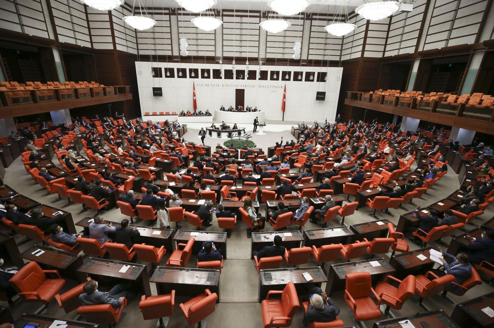 The General Assembly of the Turkish Parliament (TBMM) ratifies a social media regulation bill, Ankara, Turkey, July 29, 2020. (AA File Photo)