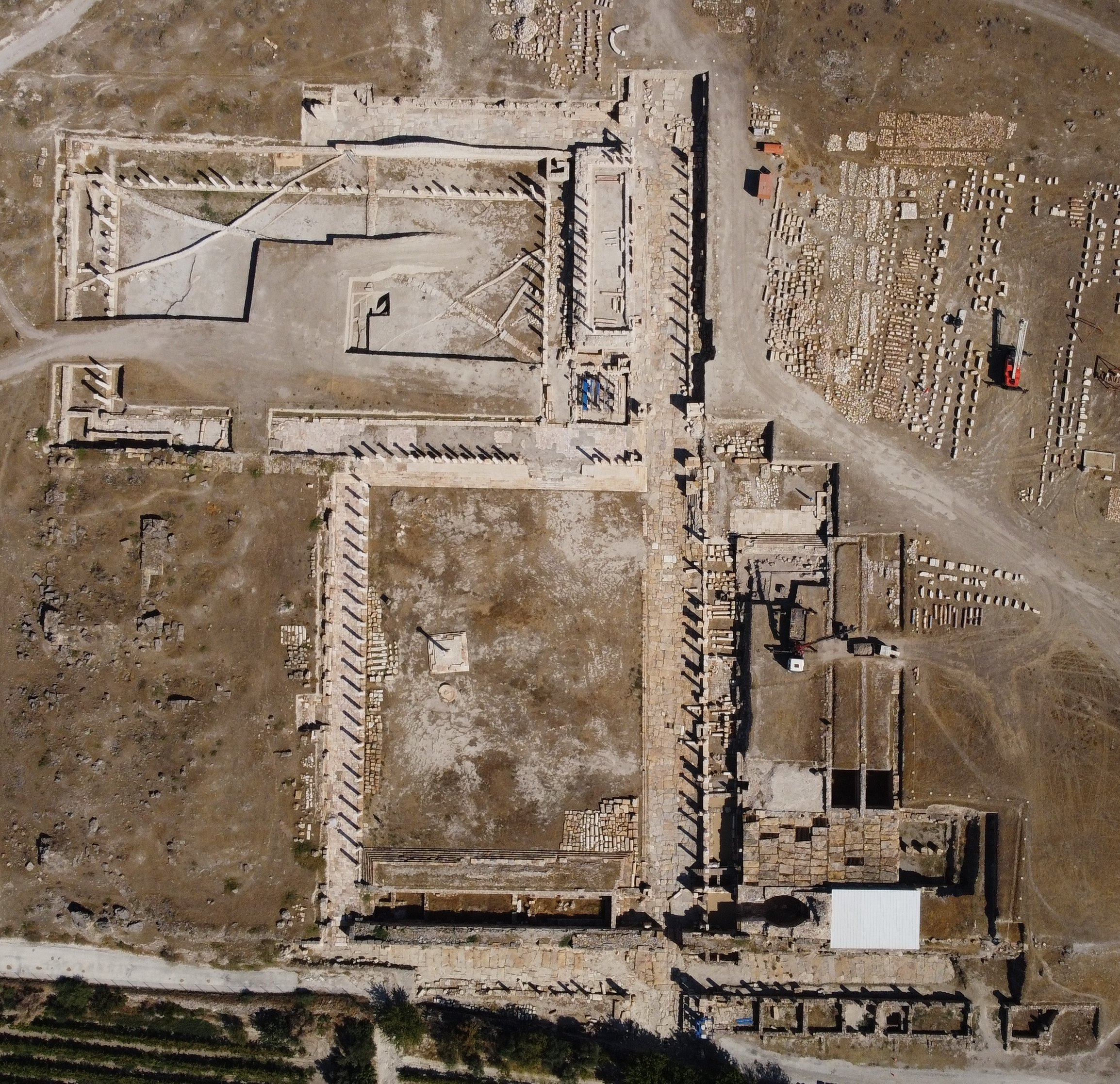 An aerial view from the ancient city of Tripolis, Denizli, southwestern Turkey, Sept. 23, 2021. (AA Photo)