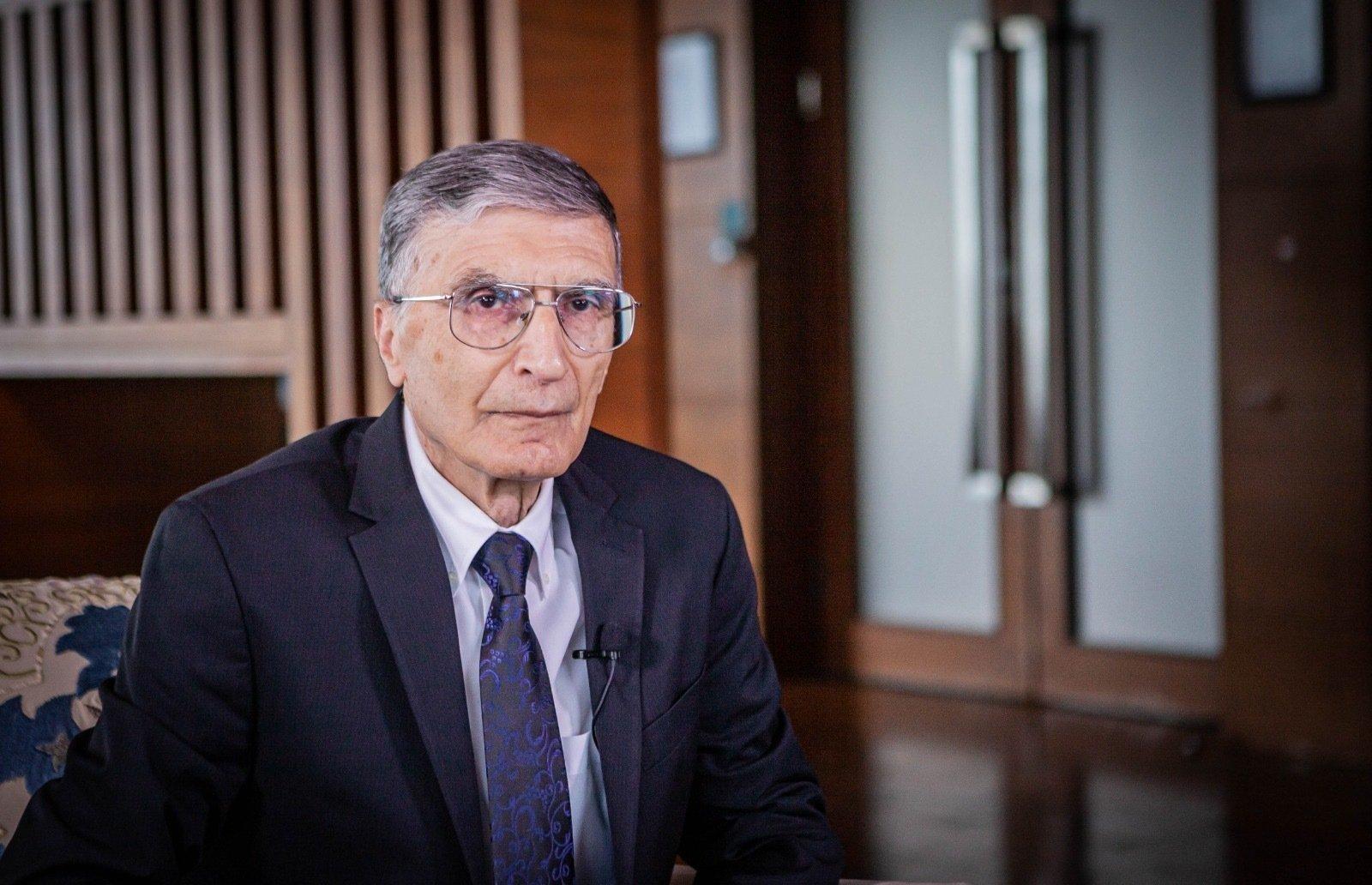 Turkey's Nobel laureate in chemistry Aziz Sancar speaks to Sabah in an interview, Istanbul, Turkey, Sept. 25, 2021. (Photo by Hatice Çınar)