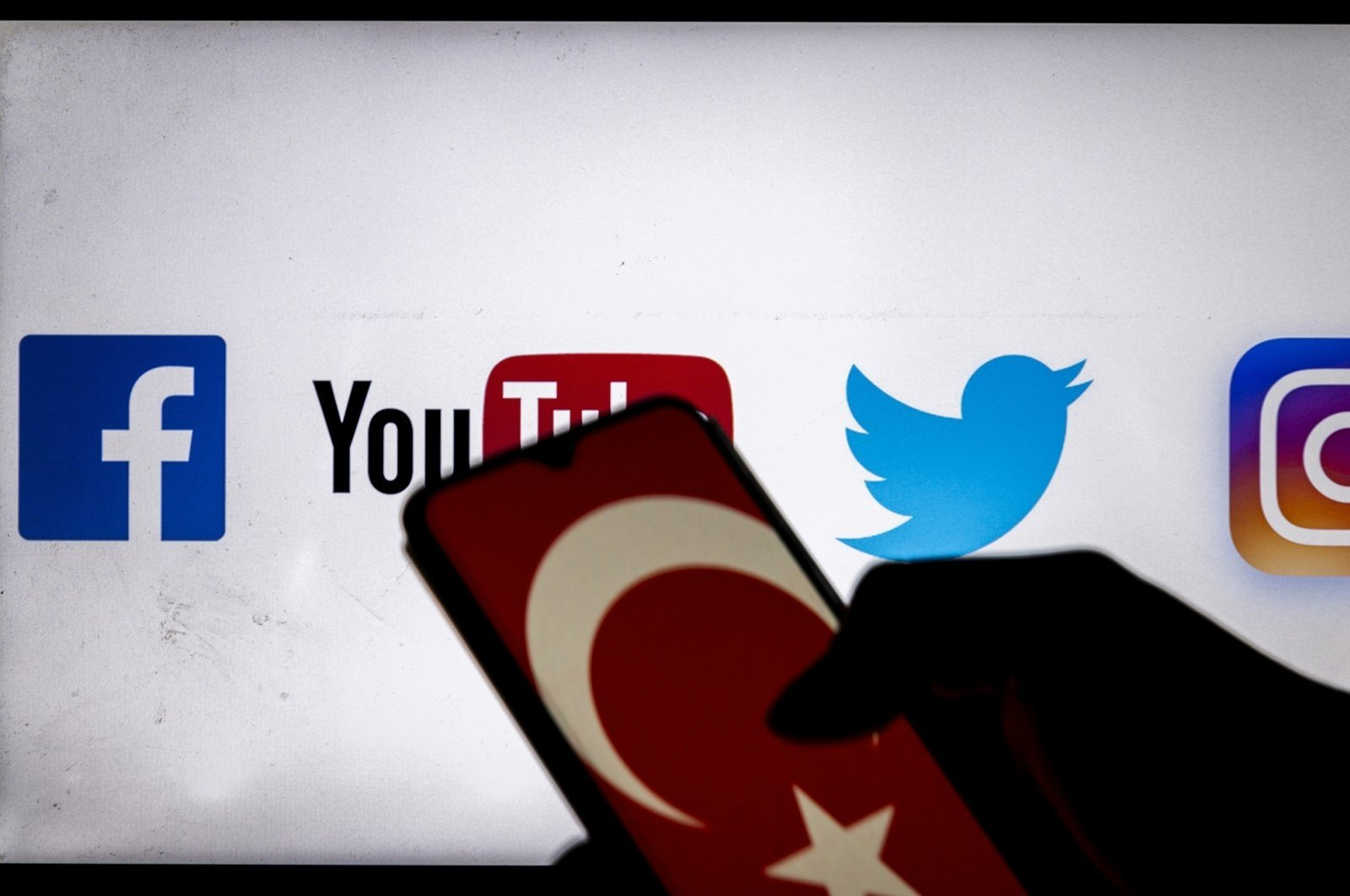 A Turkish flag is seen displayed on a smartphone with social media applications in the background, Dec. 25, 2020. (Getty Images)