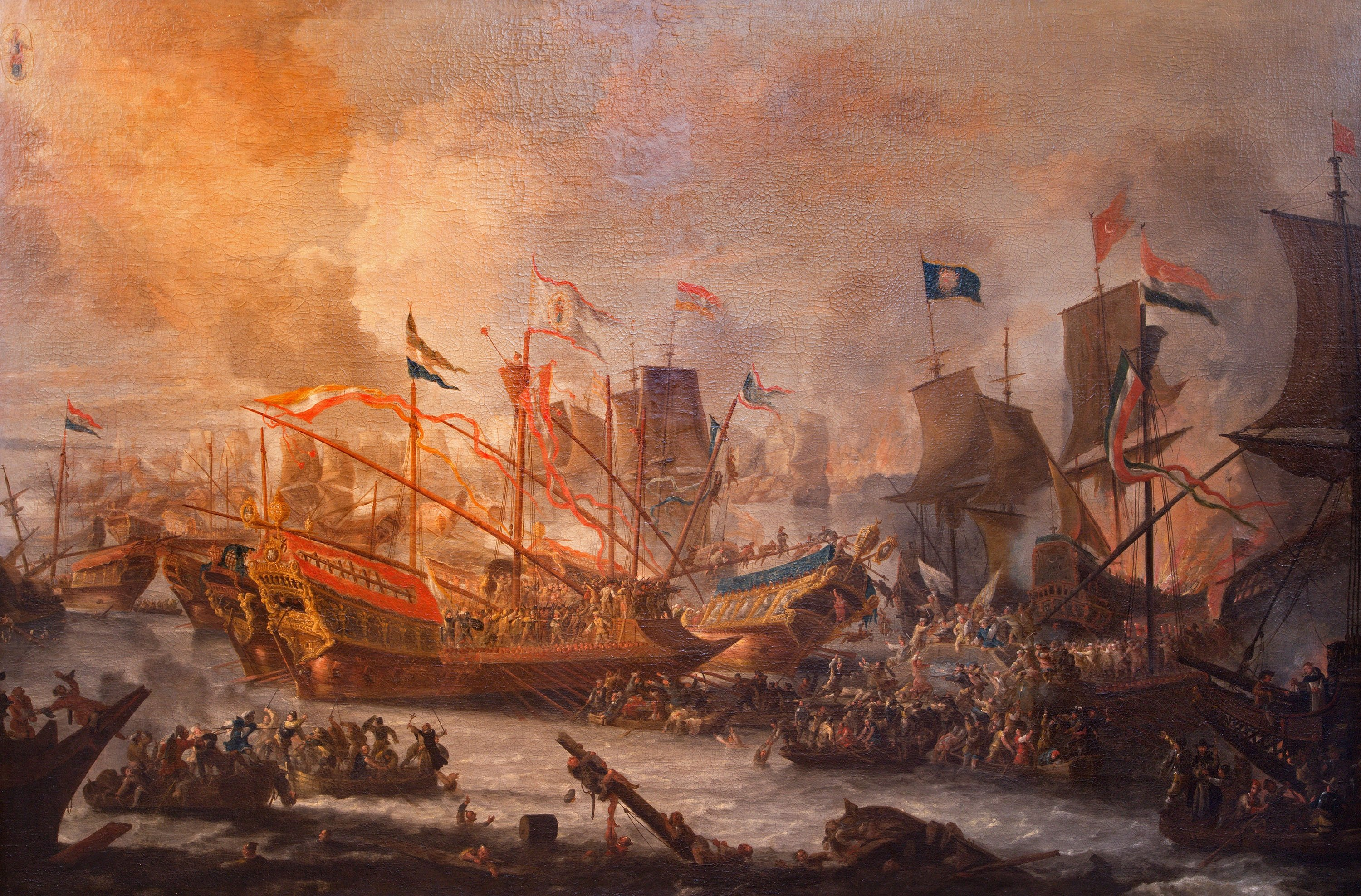 A paint of Battle of Lepanto by an unknown painter in St. Paul's Church in Antwerp, Belgium, Sept. 5, 2013. (Shutterstock Photo)