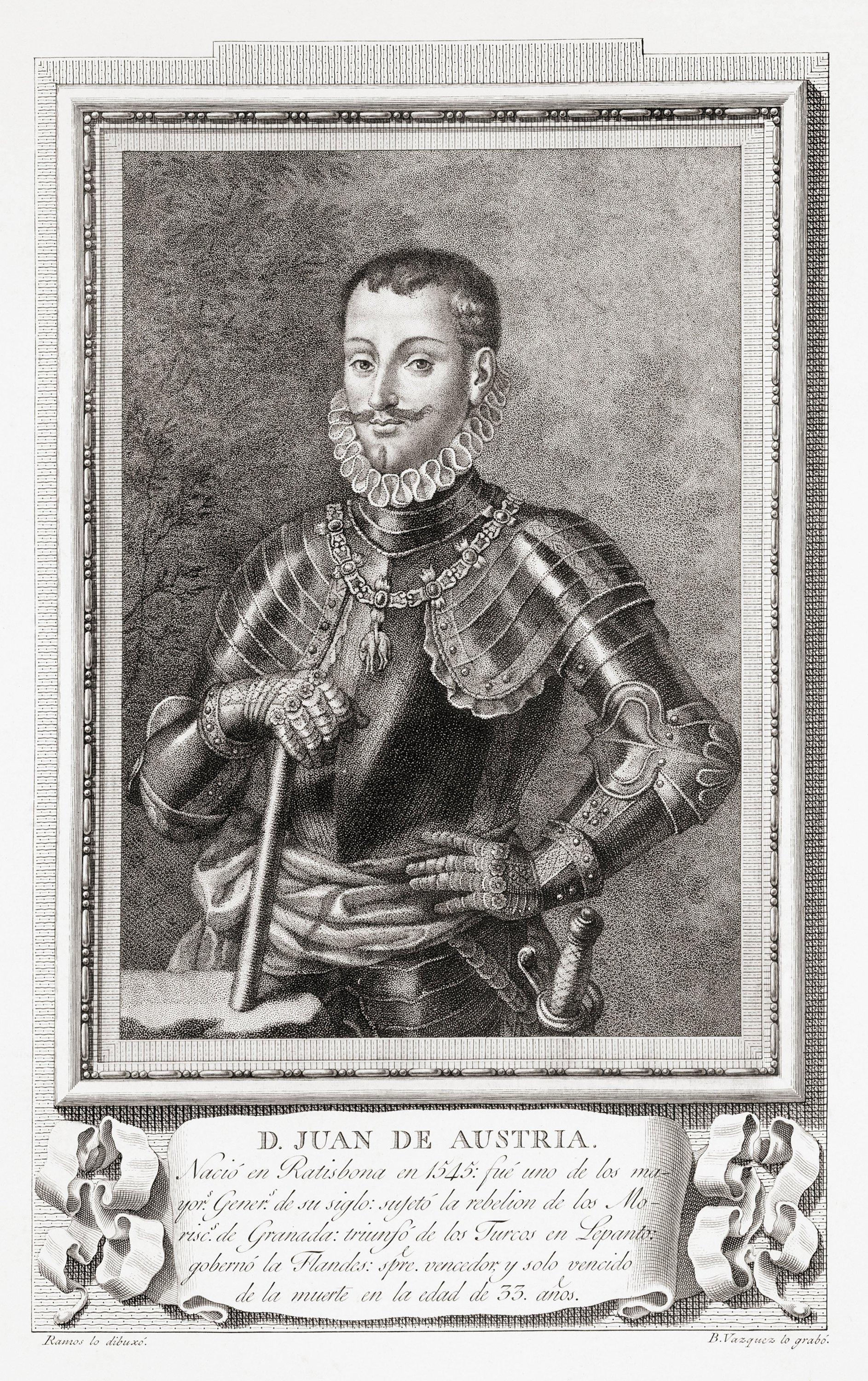 An etching of Don John of Austria. (Getty Images)