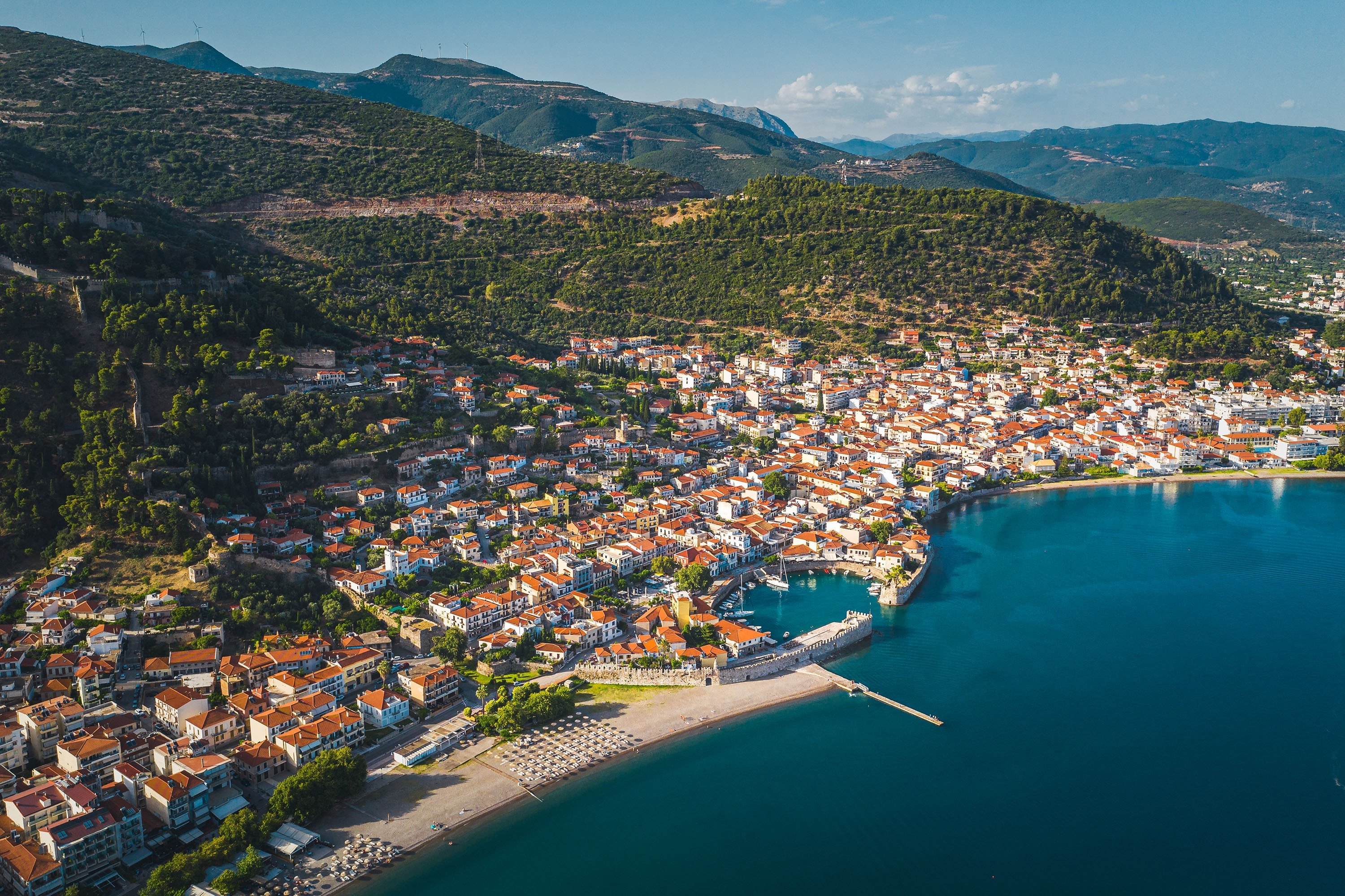 The old harbor of Nafpaktos, known as Lepanto during part of its history, in modern-day Greece. (Getty Images)